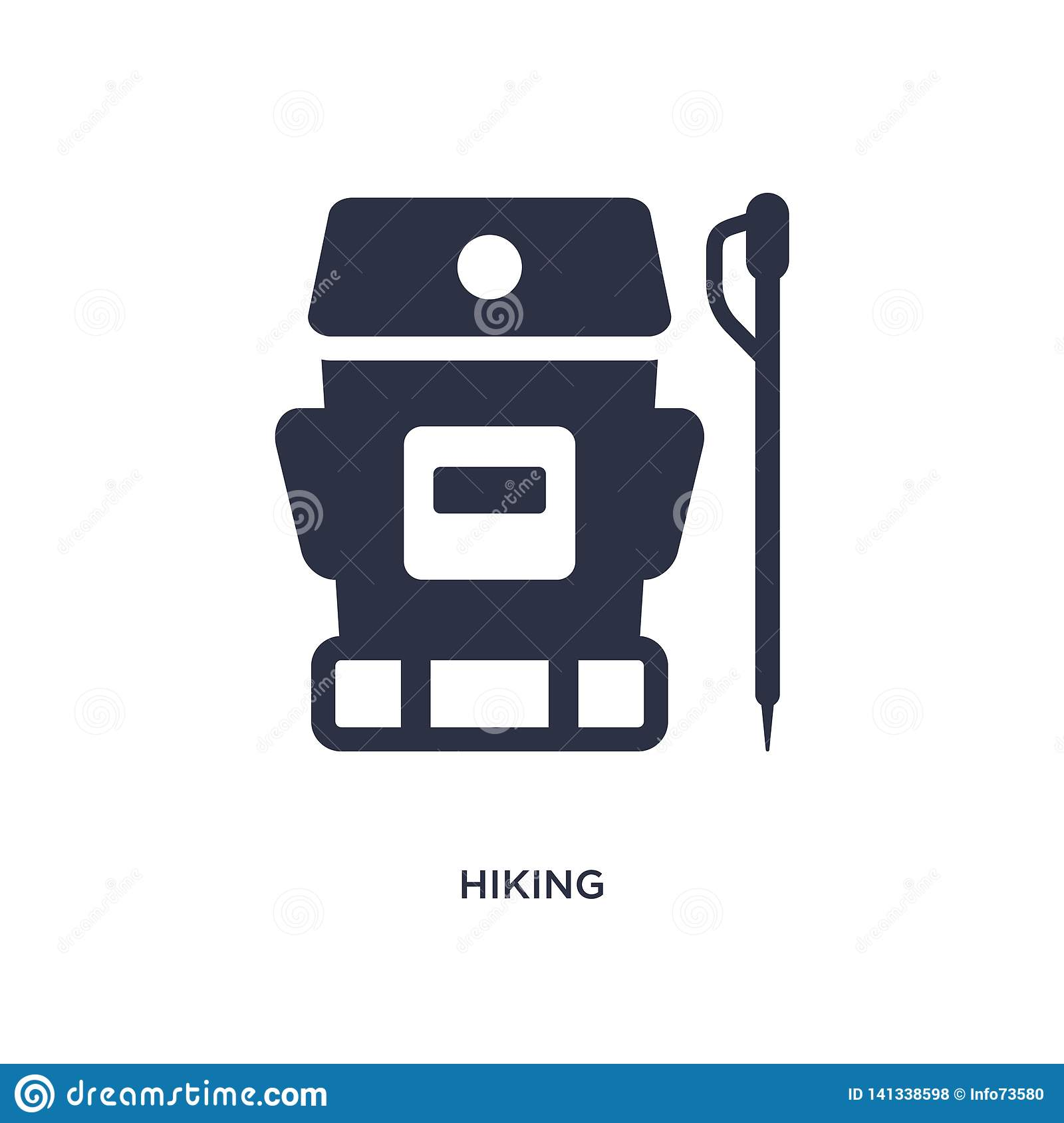 hiking icon on white background. Simple element illustration from free time concept