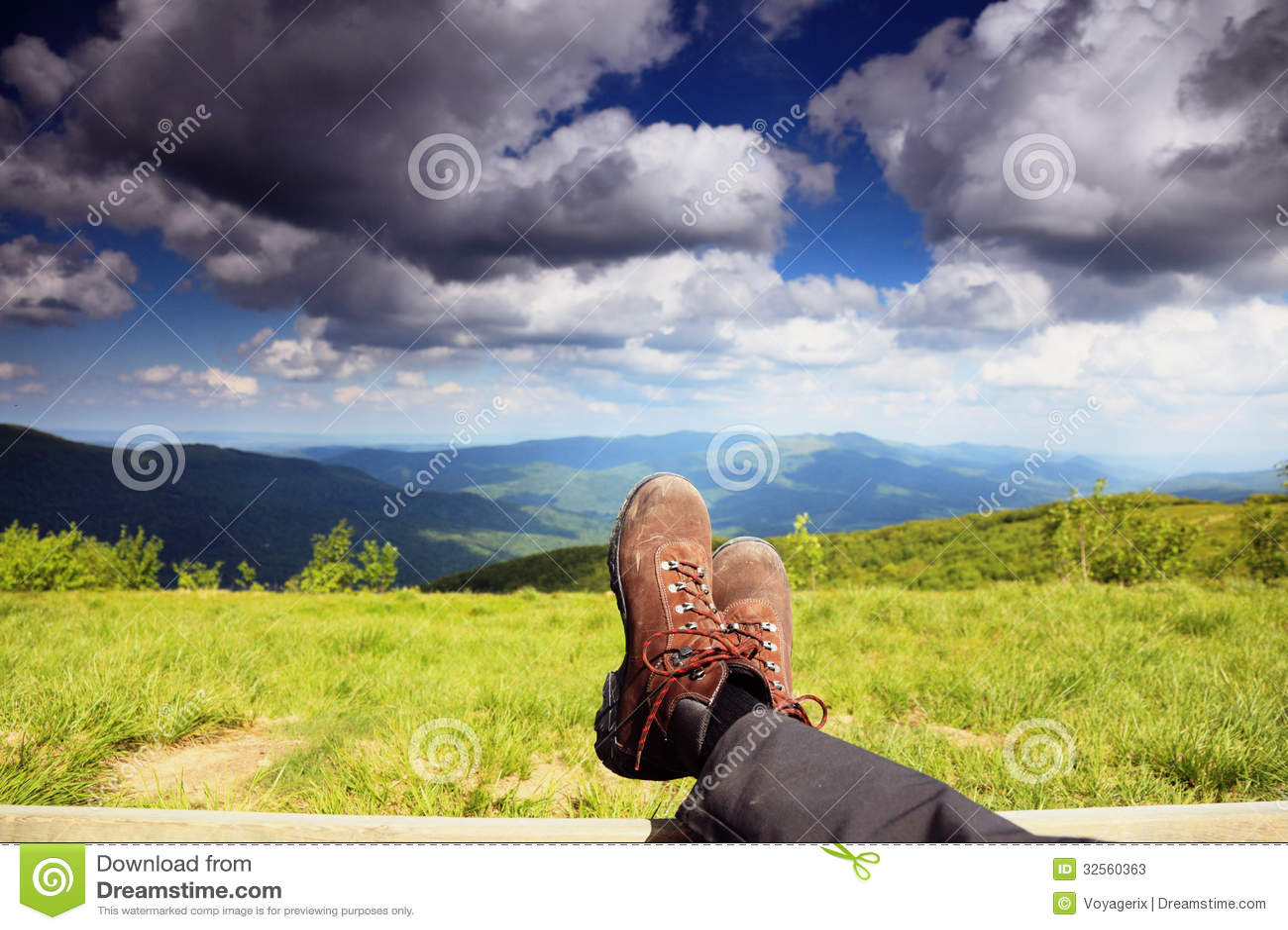 boots male massage  mountains
