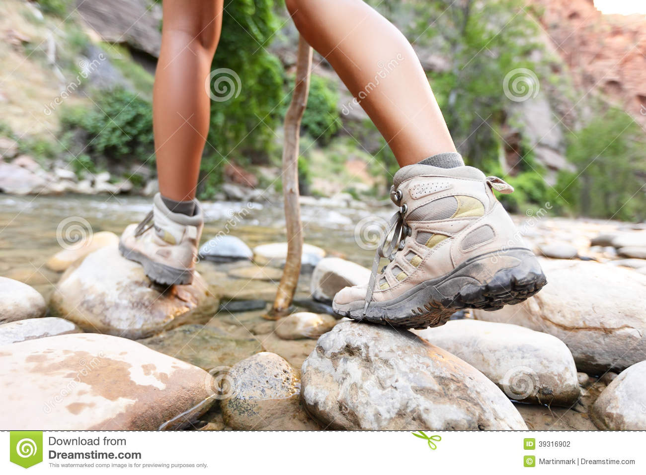 Download Hiking Shoes On Hiker Outdoors Walking Stock Photo - Image of adult, footwear: 39316902
