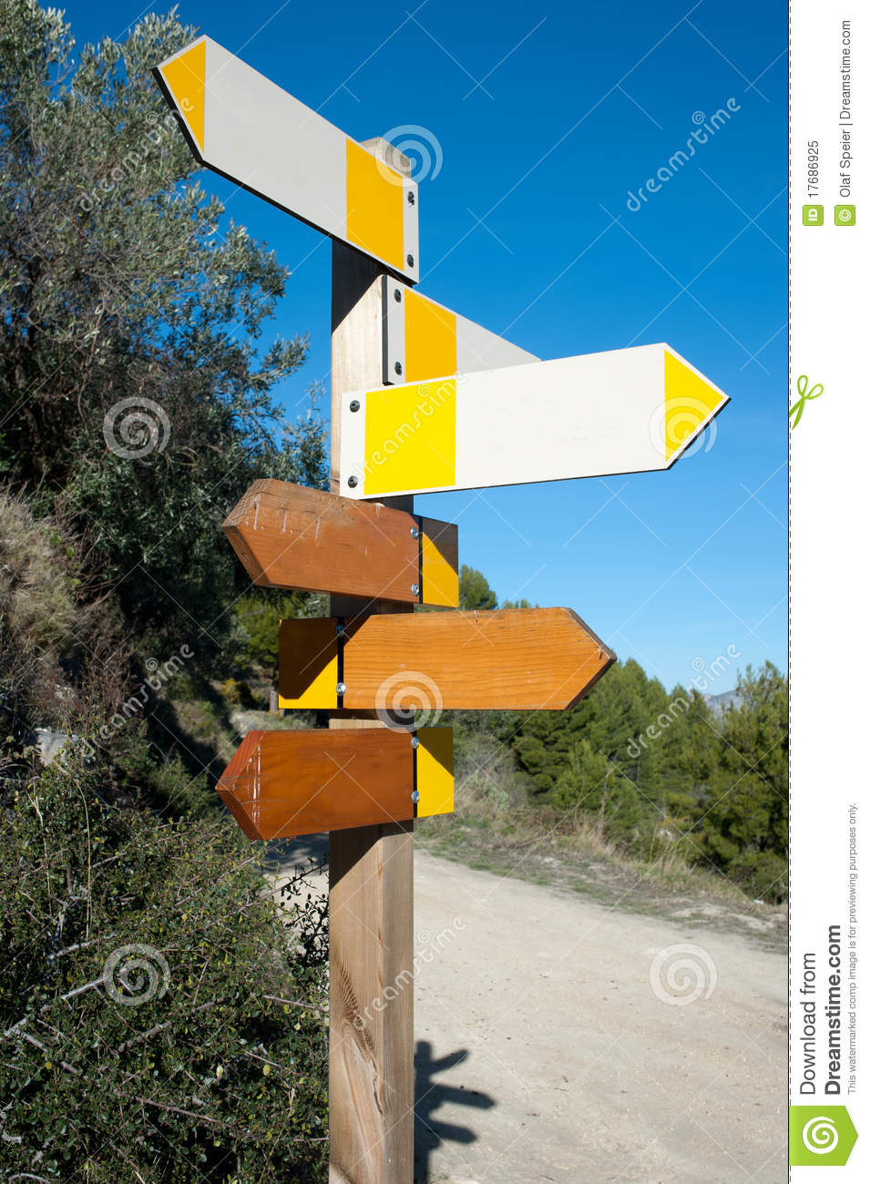 Hiking signpost