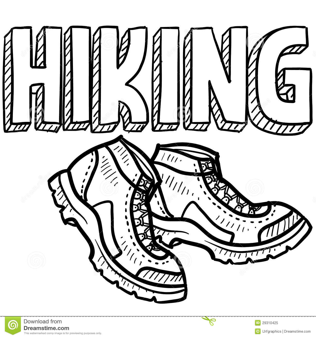 Hiking Sports Sketch Royalty Free Stock Photo Image