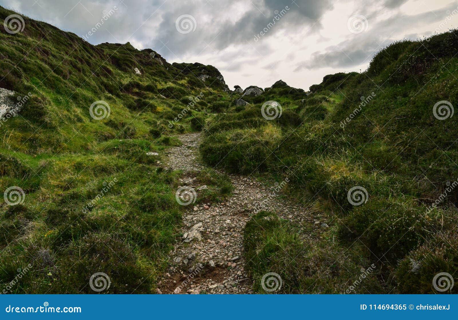 Hiking trail on the Isle of Iona