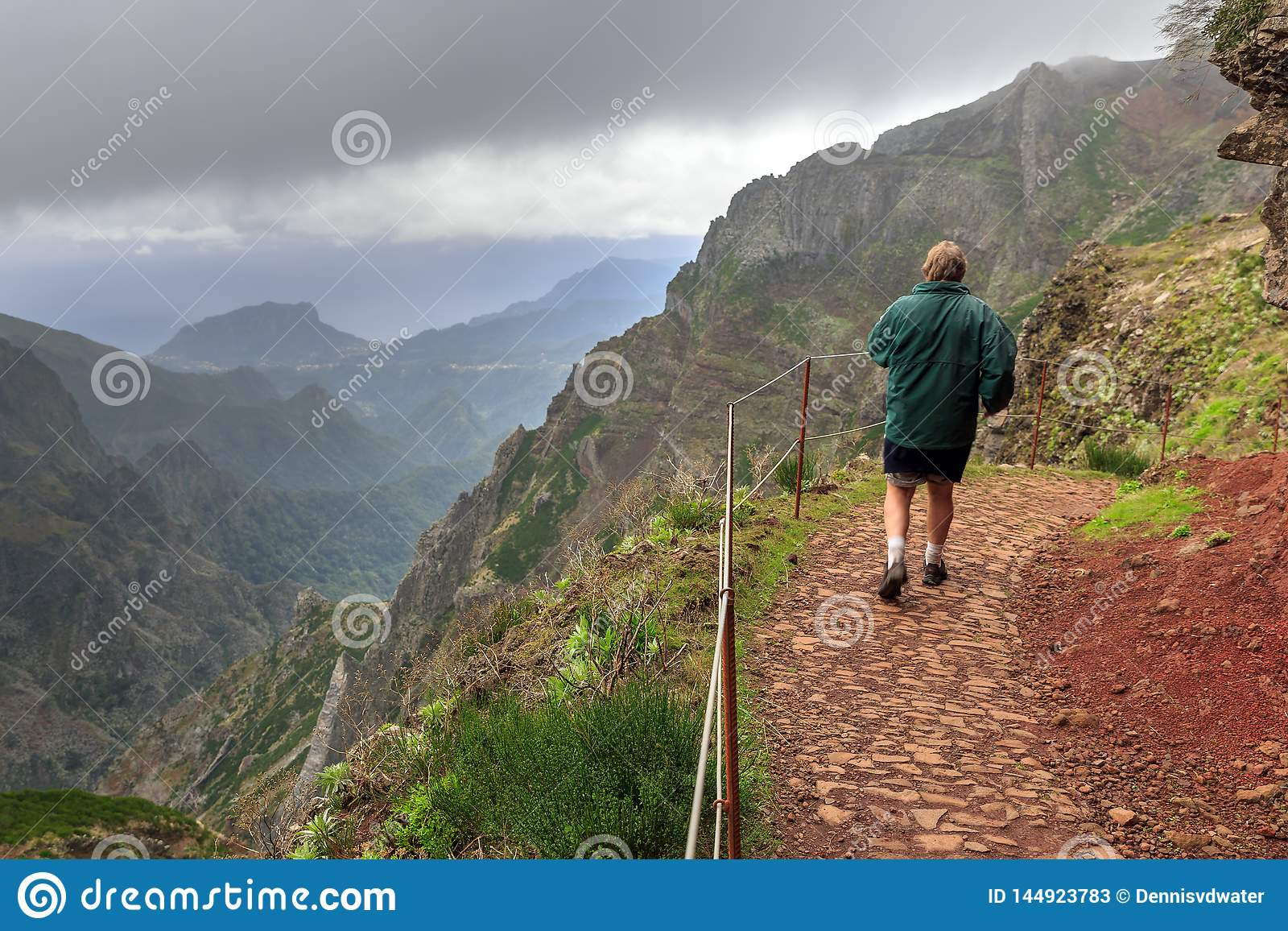 Hiking on the trail in Madeira