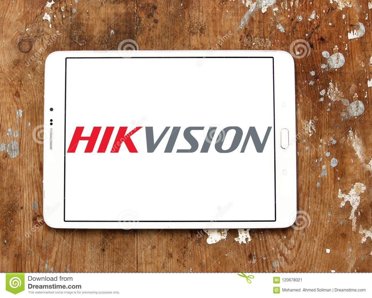 Hikvision Video Surveillance Company Logo Editorial Photo - Image of