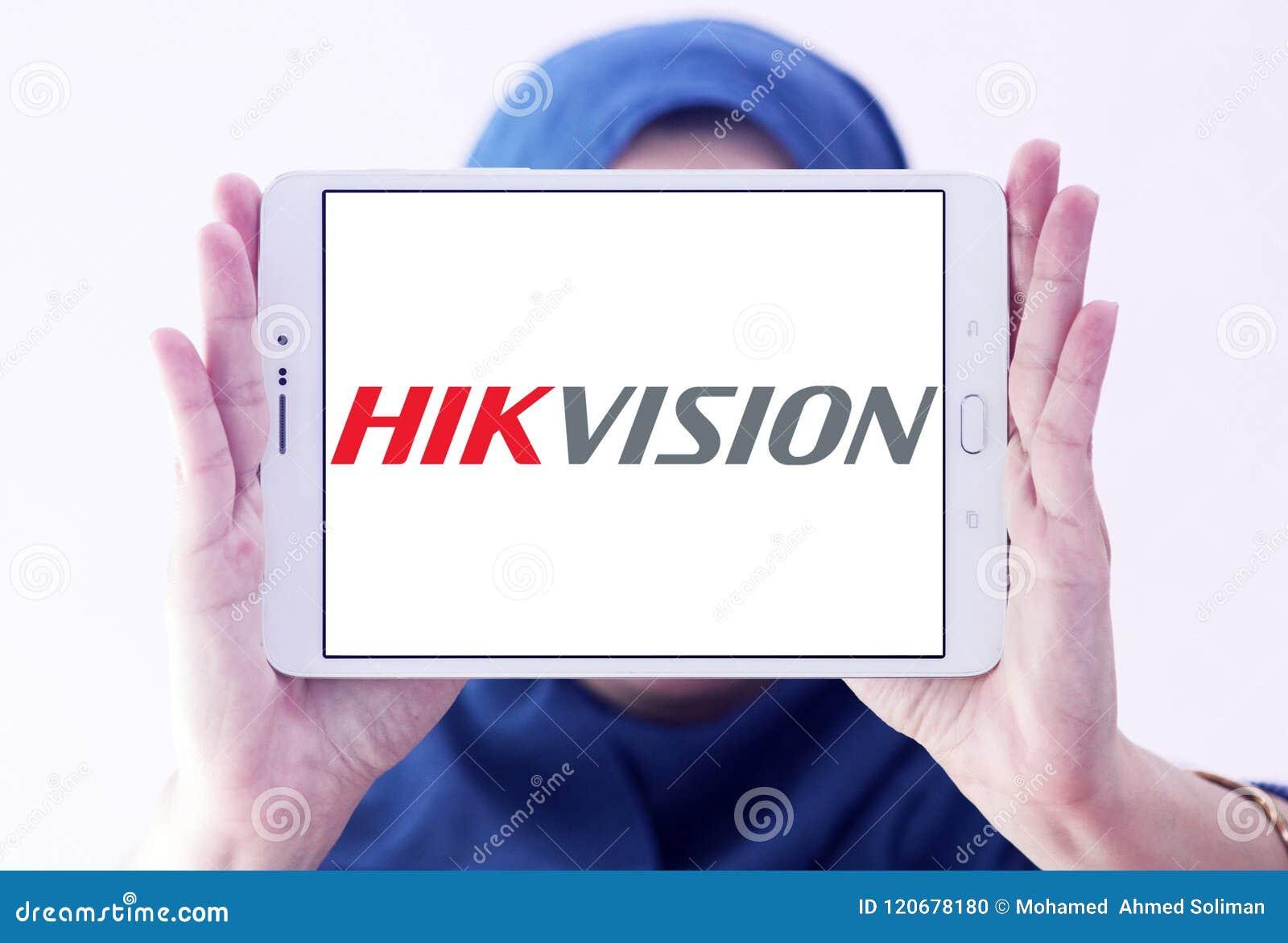 Hikvision Video Surveillance Company Logo Editorial Image - Image of
