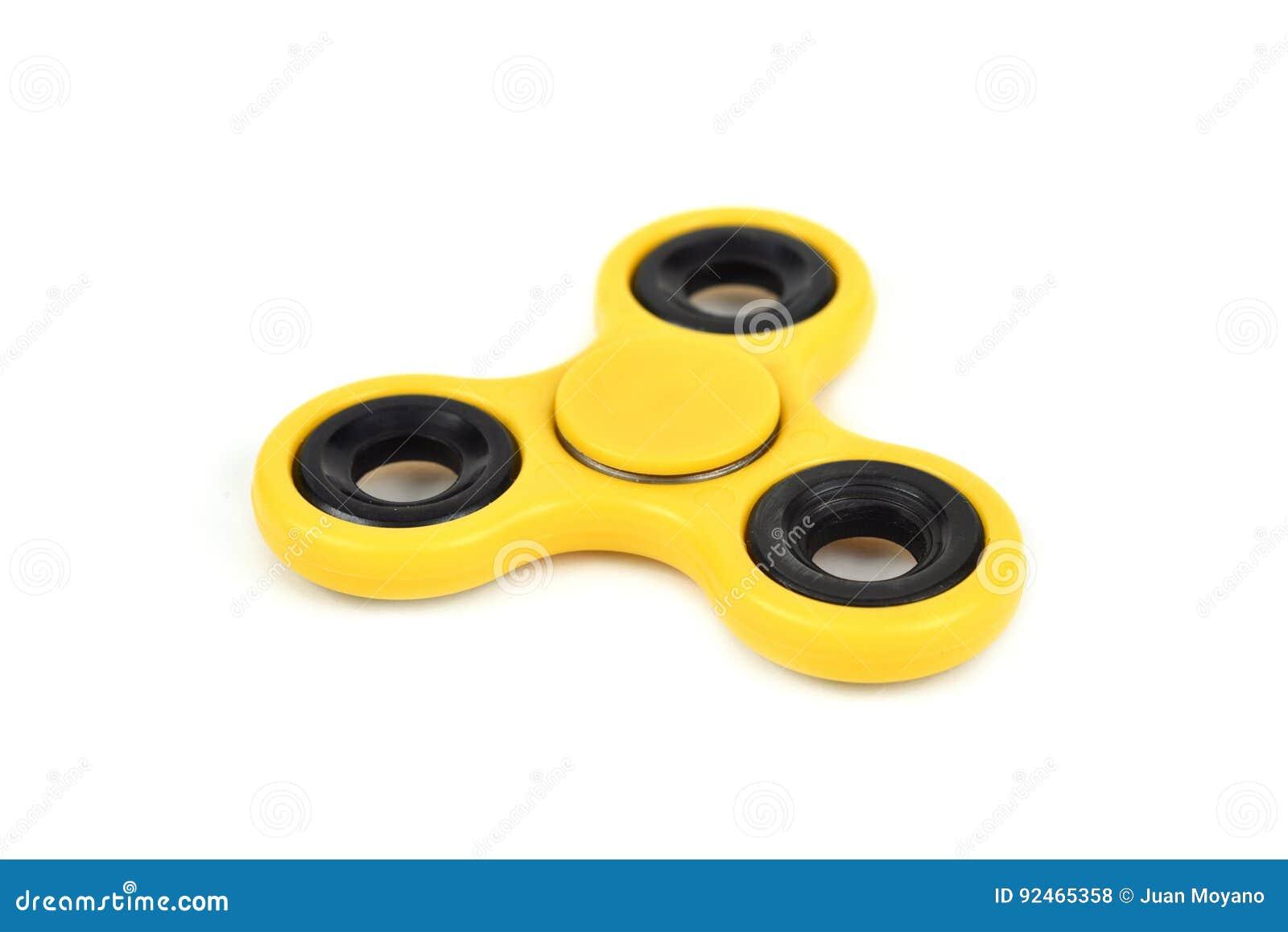 Hilandero amarillo de la persona agitada