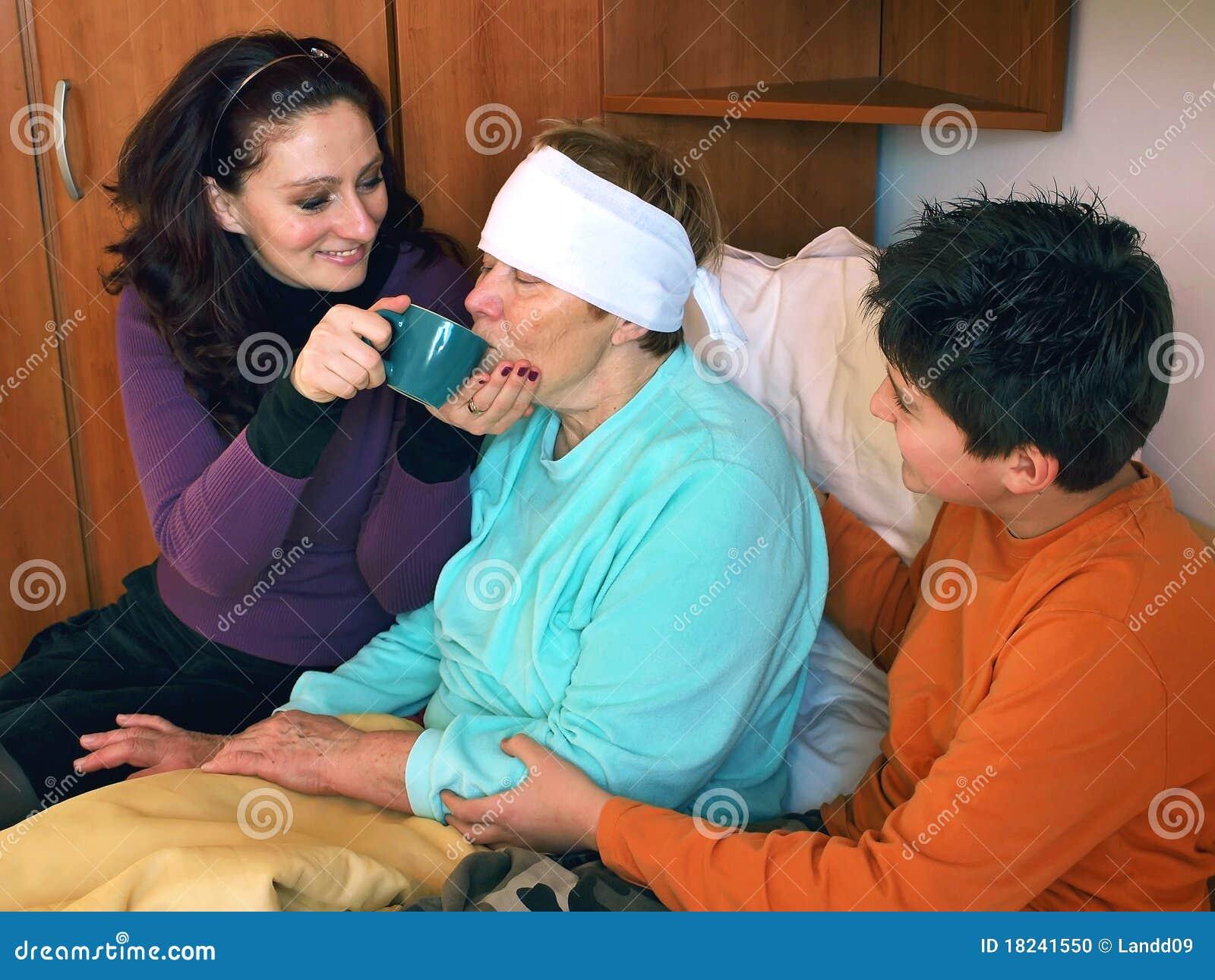 Hilfe für kranke Großmutter