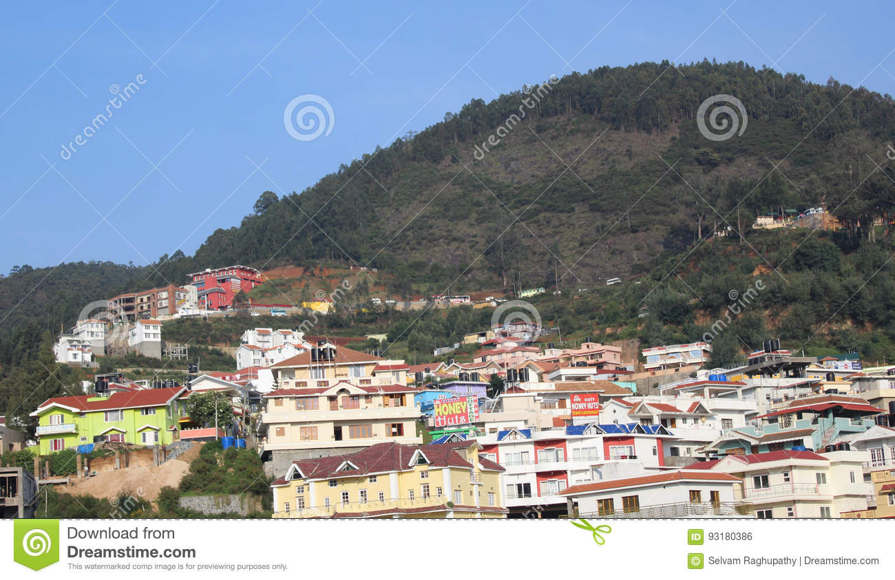hill city editorial photo image of house houses village 93180386 rh dreamstime com ooty house designs ooty houses for sale