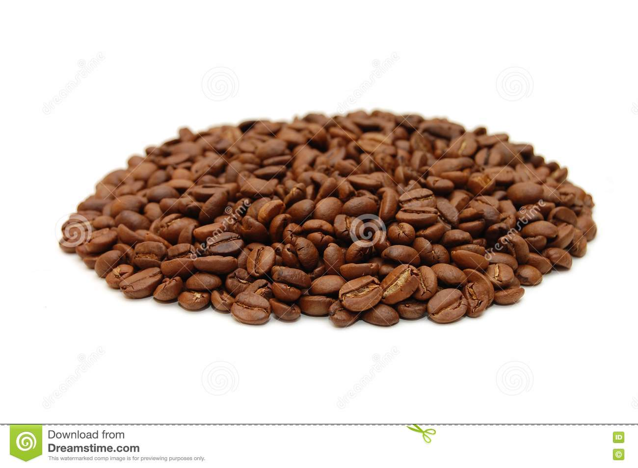 hill of coffee grains over white stock photos image 10105063. Black Bedroom Furniture Sets. Home Design Ideas