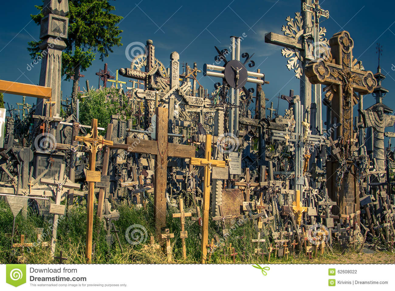 Hill of Crosses in Lithuania next to Siauliai