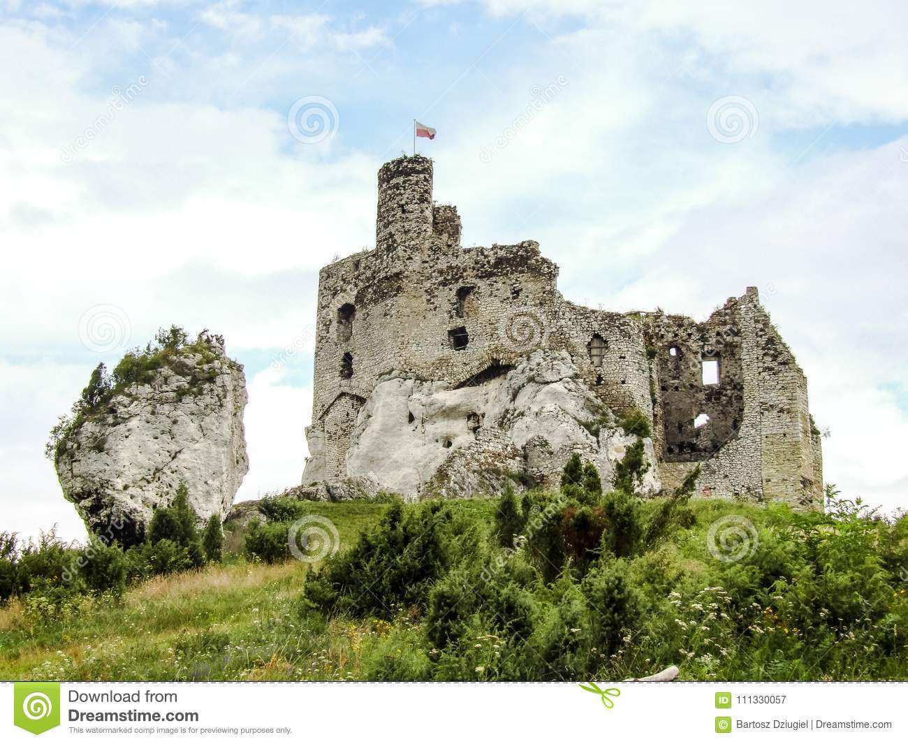 Ruins Of Mirow Castle On Trail Eagles Nests