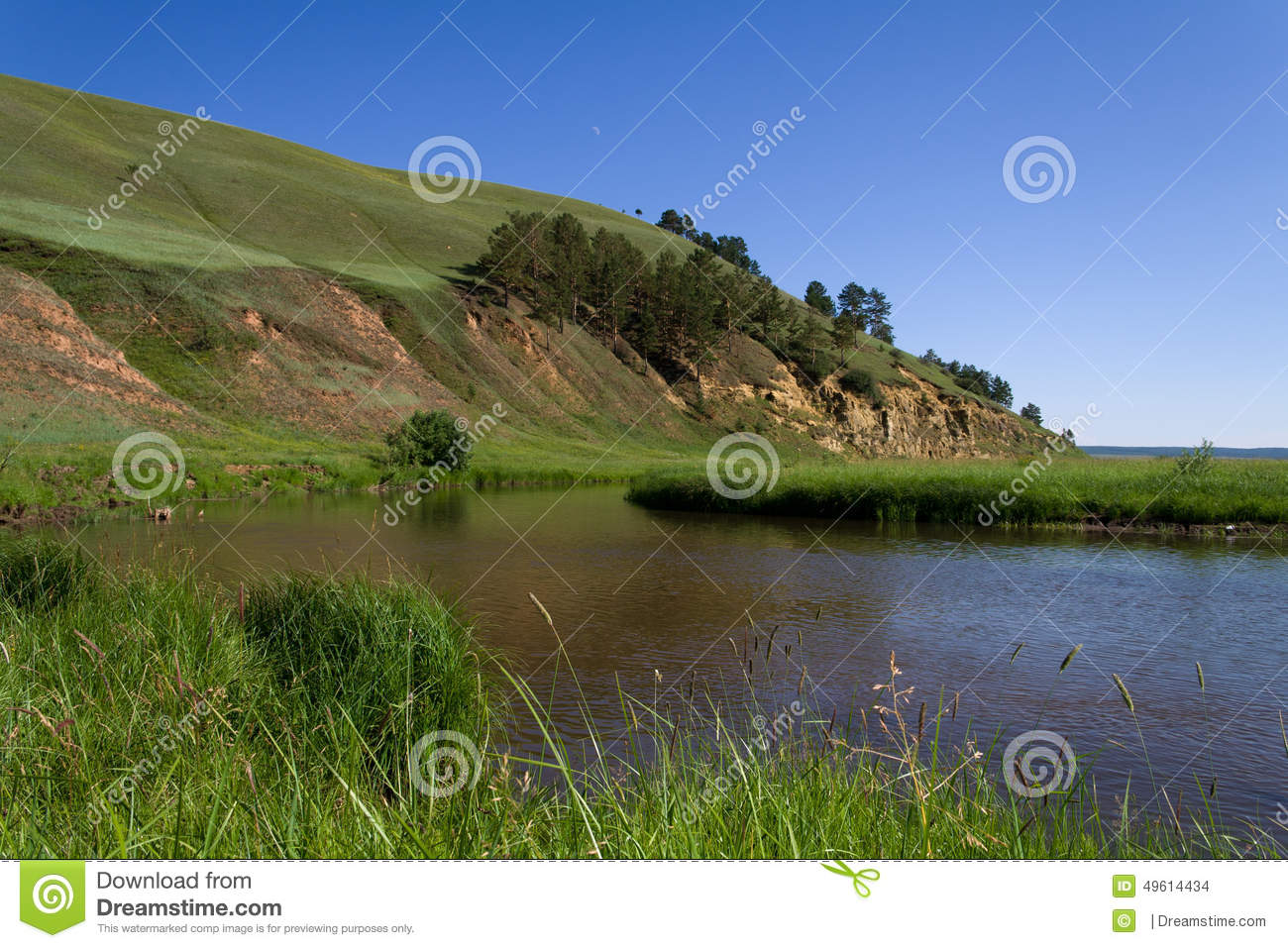 Hill and the river stock photo image of hill country for River hill