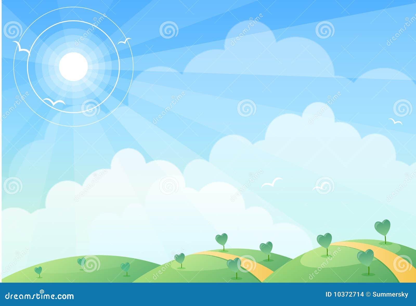 Hill & sun