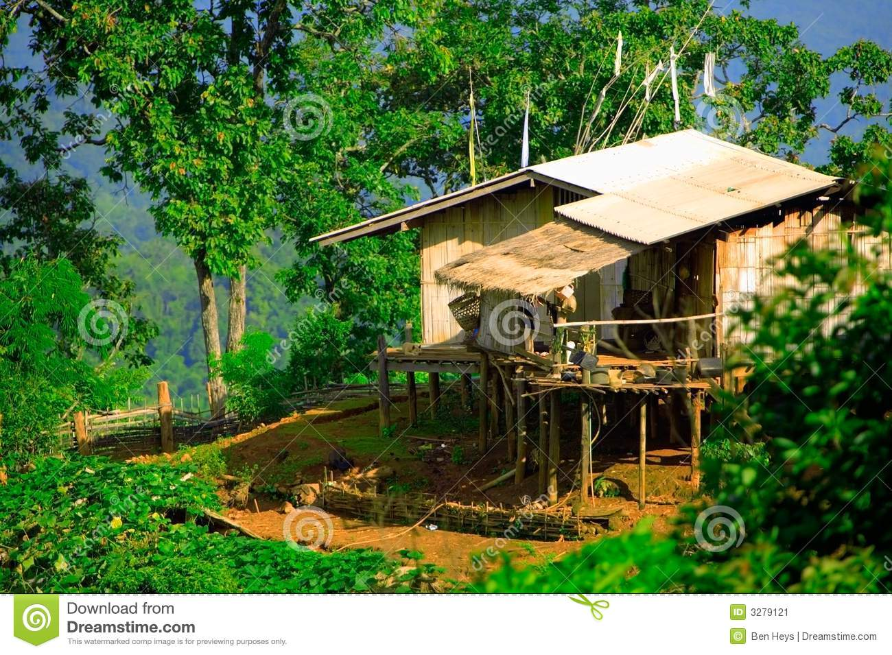 Hill tribe house