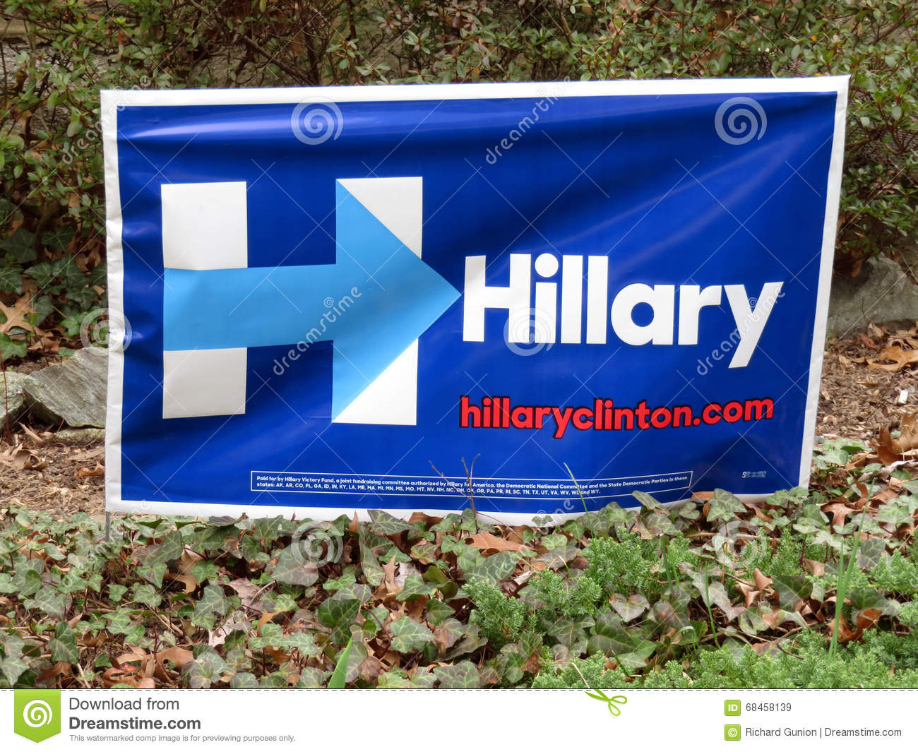 hillary clinton campaign poster editorial stock image image of