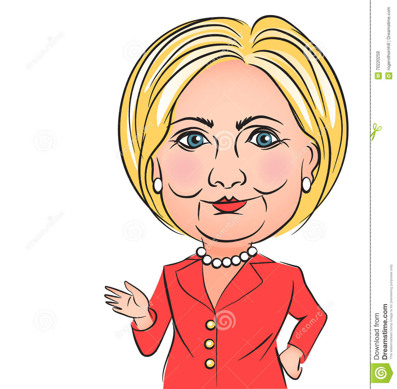 Illustration Of Democratic Presidential Candidate Hillary Clinton