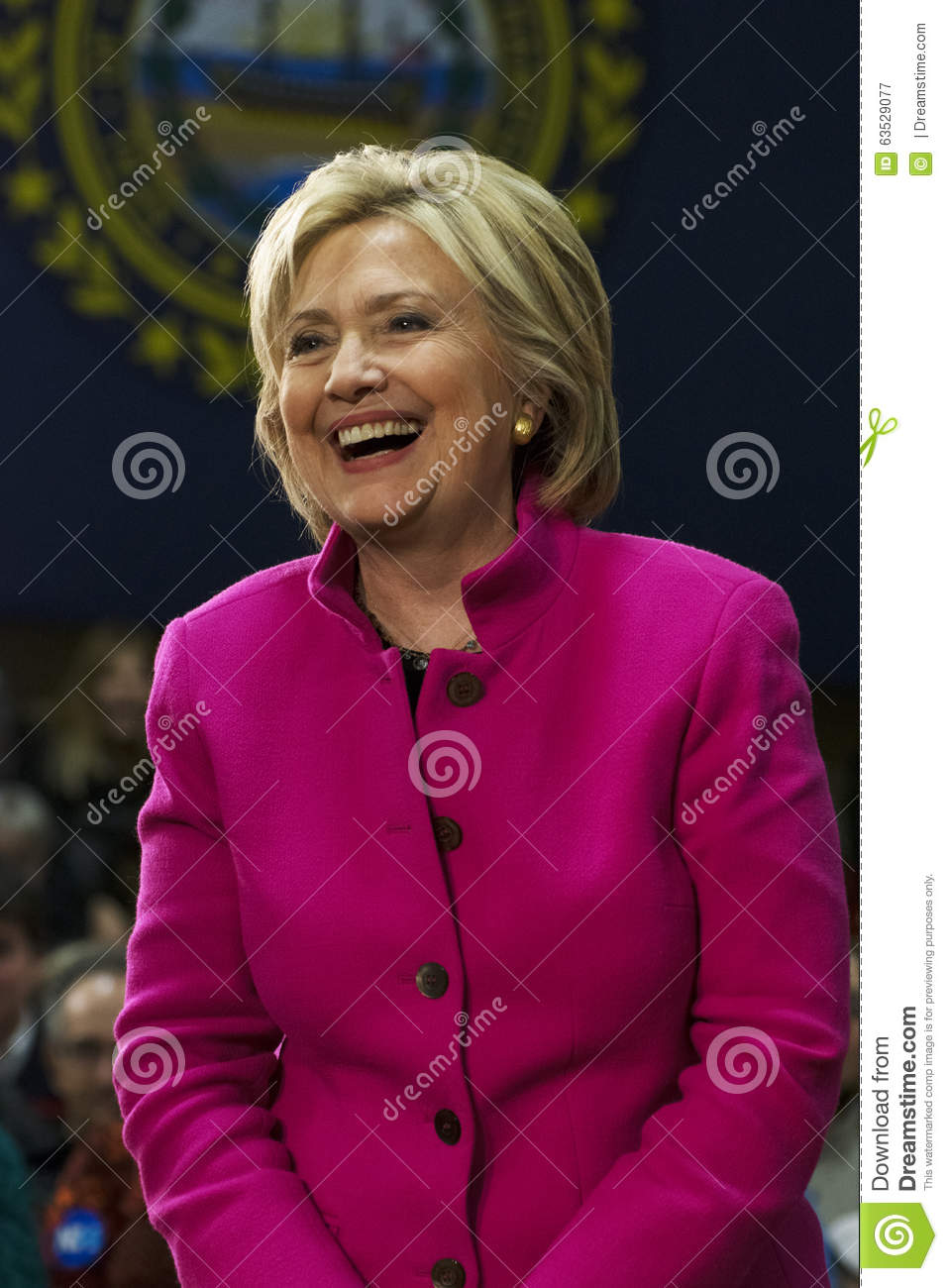 Hillary Clinton Laughing Pink Jacket