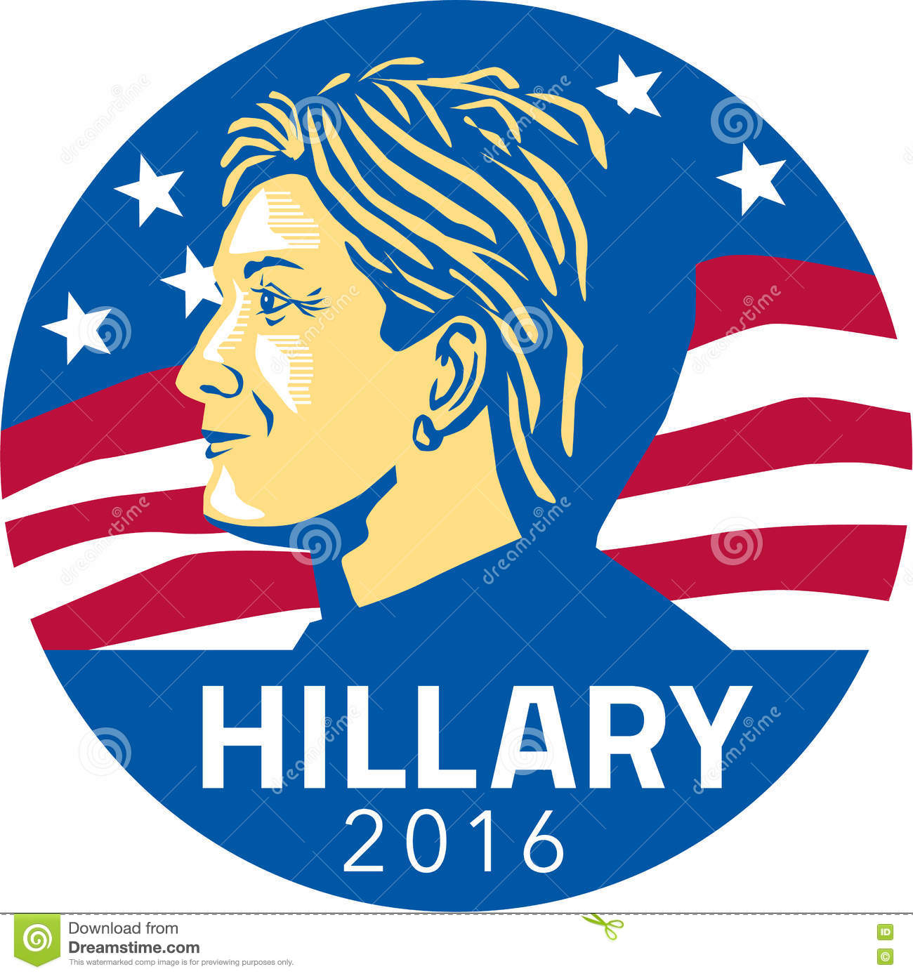 Hillary Clinton President 2016 Editorial Image - Image: 75500920