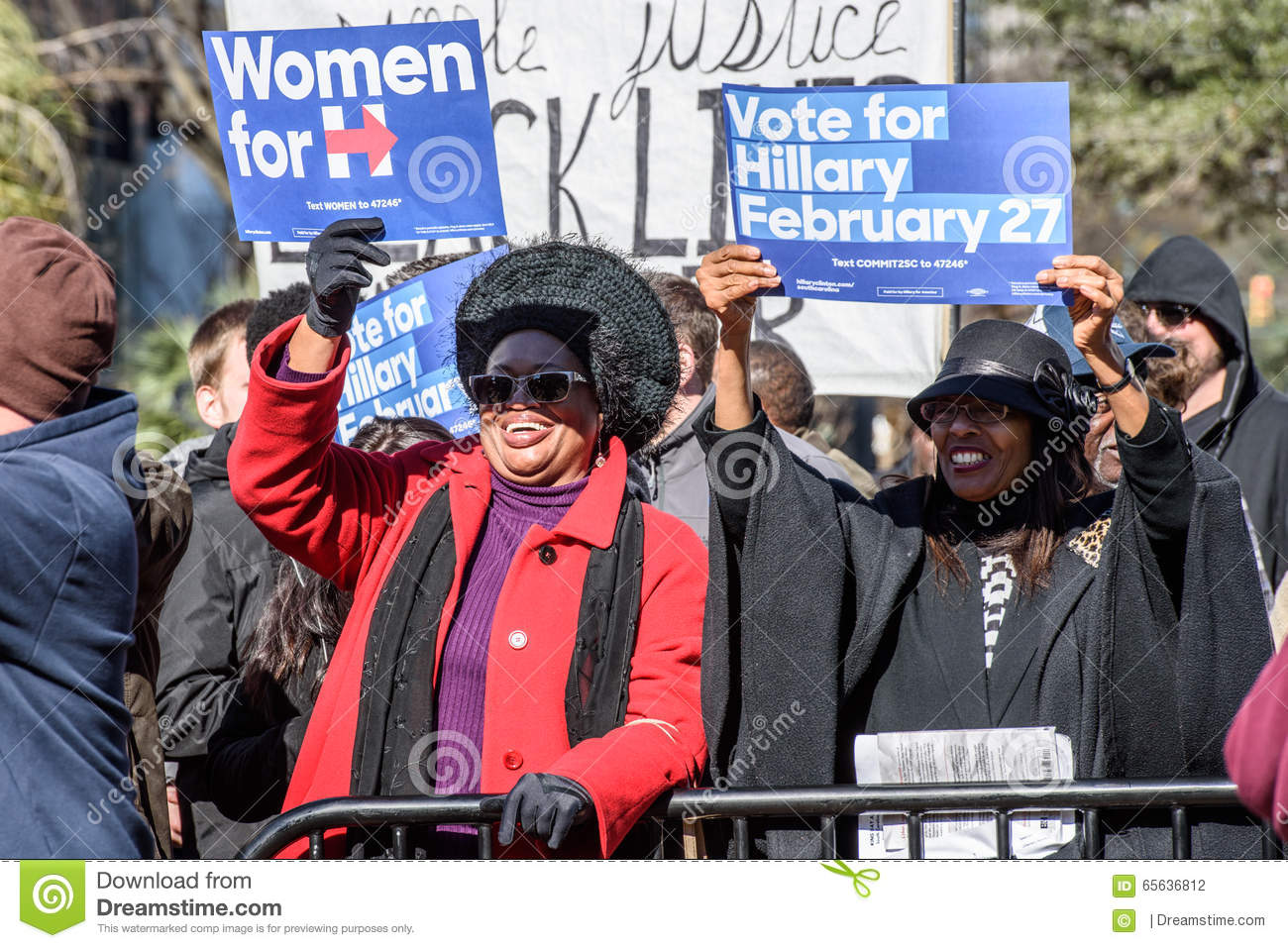 Hillary Clinton Supporters - MLKDAY-Verzameling