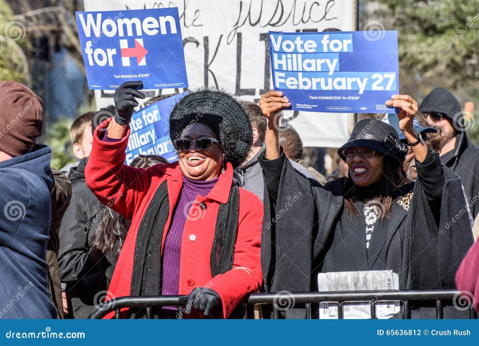 Hillary Clinton Supporters - rassemblement de MLKDAY
