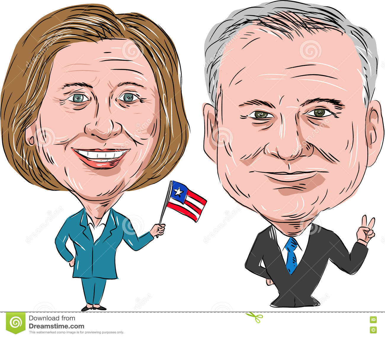 Hillary Clinton y Tim Kaine Election 2016