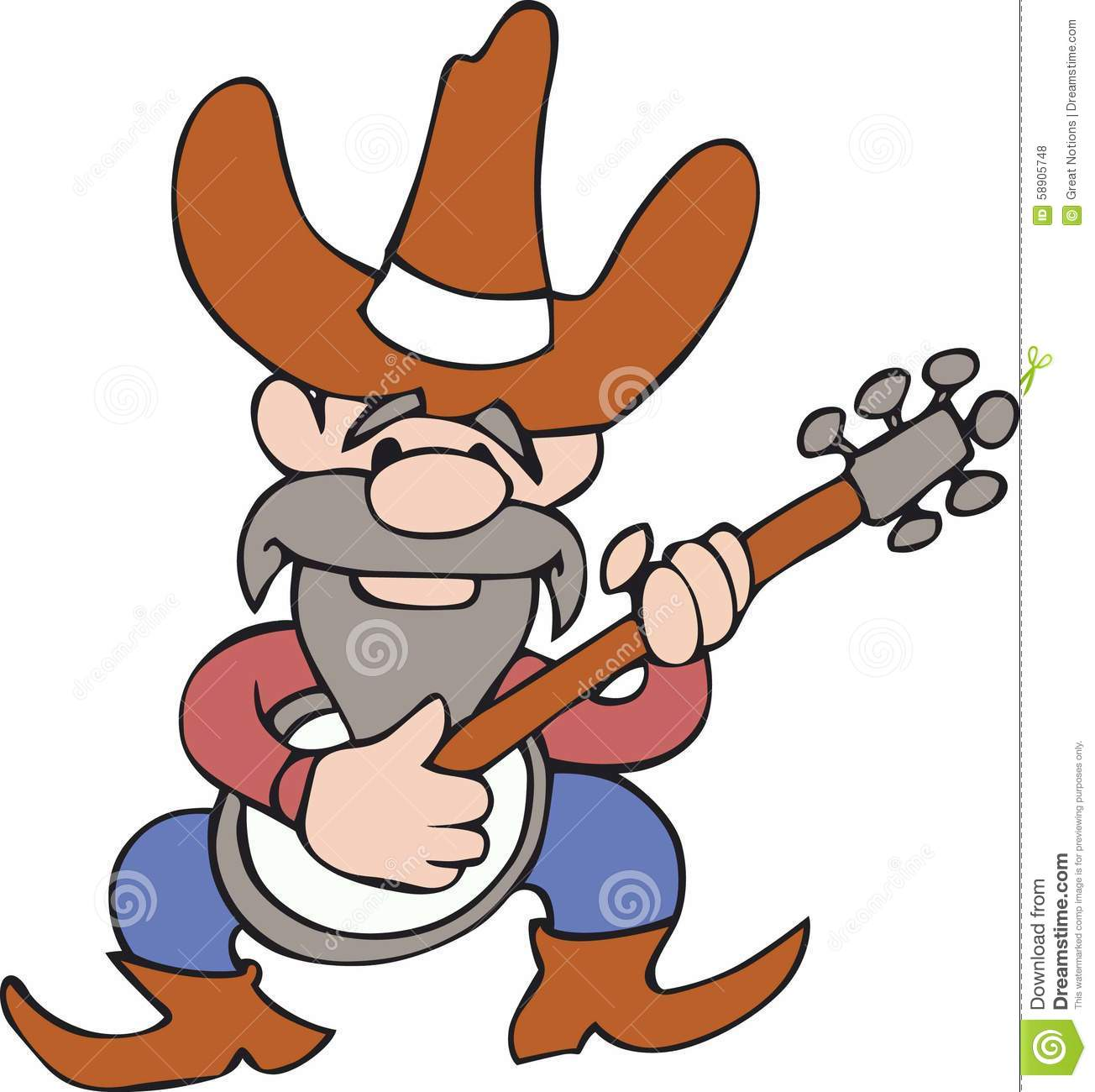 Royalty Free Stock Photos: HILLBILLY BANJO PLAYER. Image: 58905748