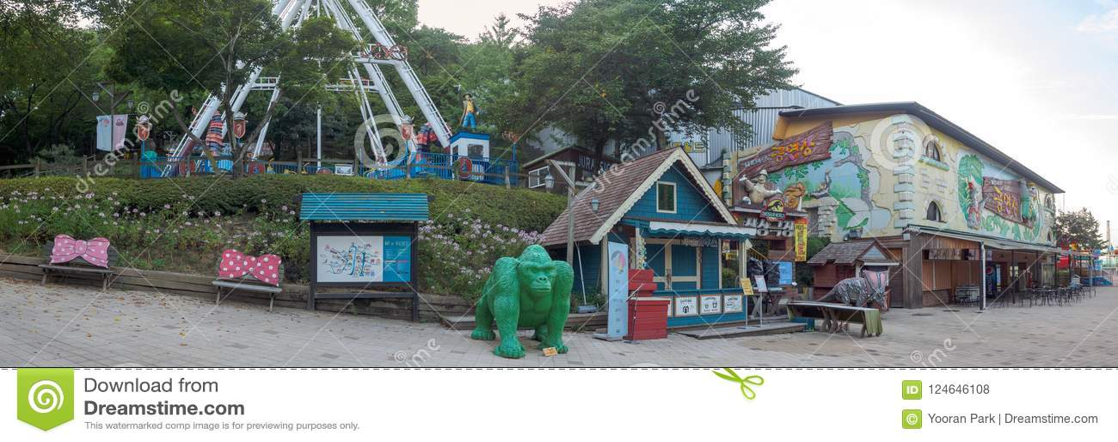 Hillcrest (Hubheuvels) scène, Eco-themapark in Daegu-stad, Korea