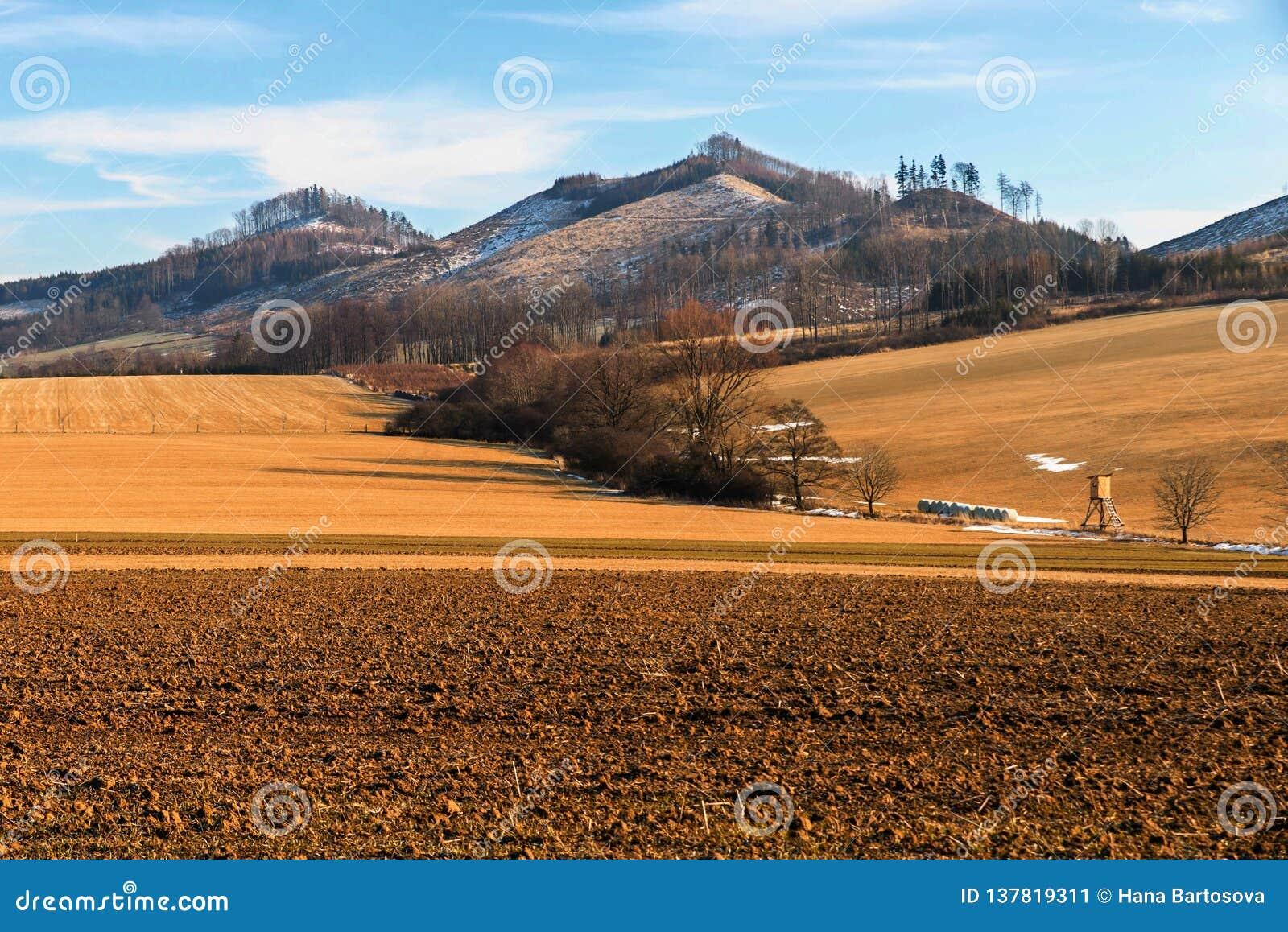 Hills and fields near Podhradni Lhota, Czech republic
