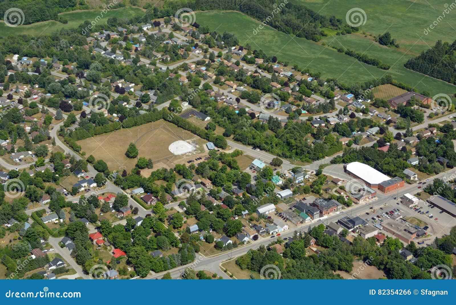 Hillsburgh Ontario, von der Luft