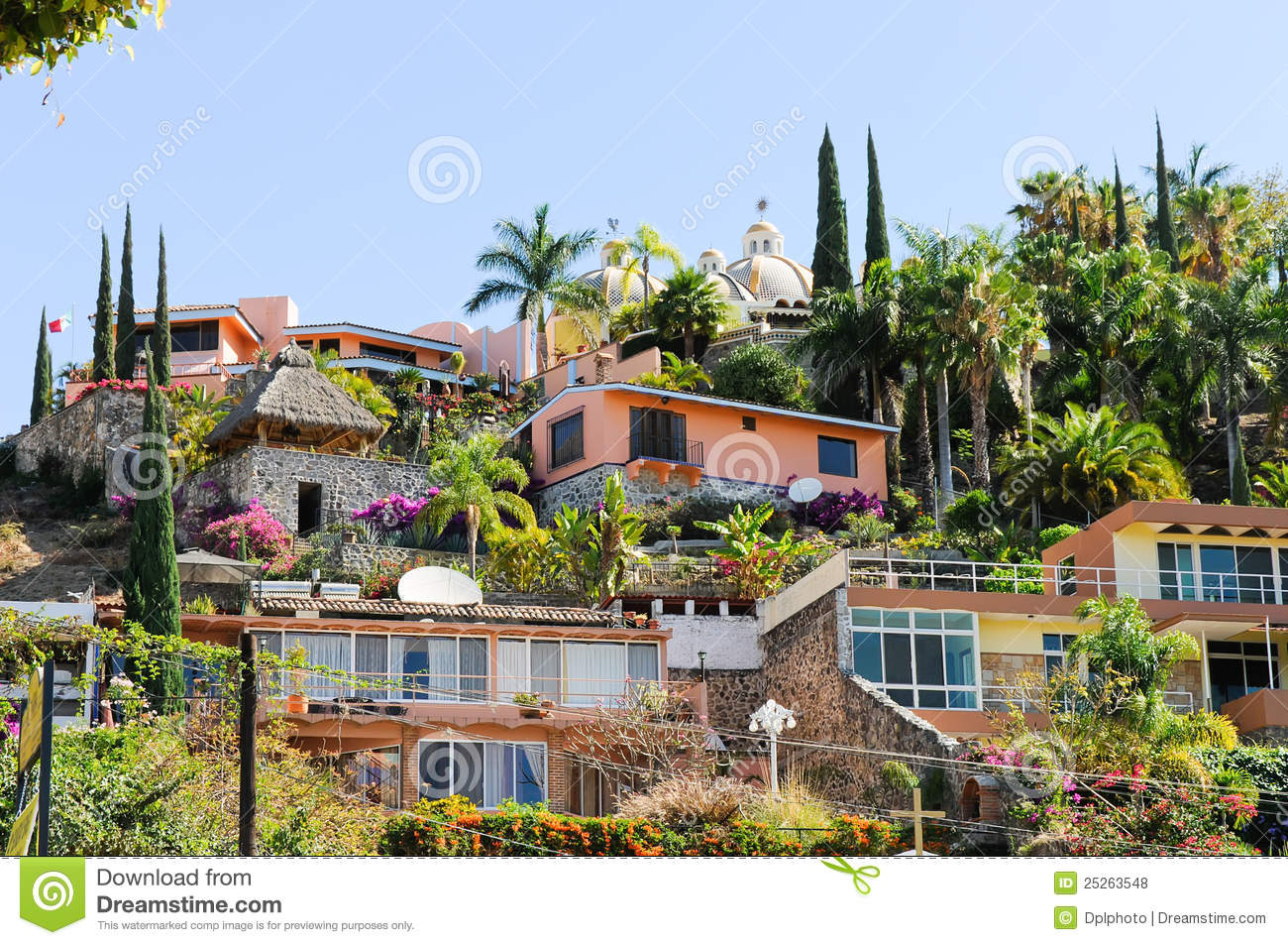 Royalty Free Stock Photos: Hillside homes, Ajijic, Jalisco, Mexico ...