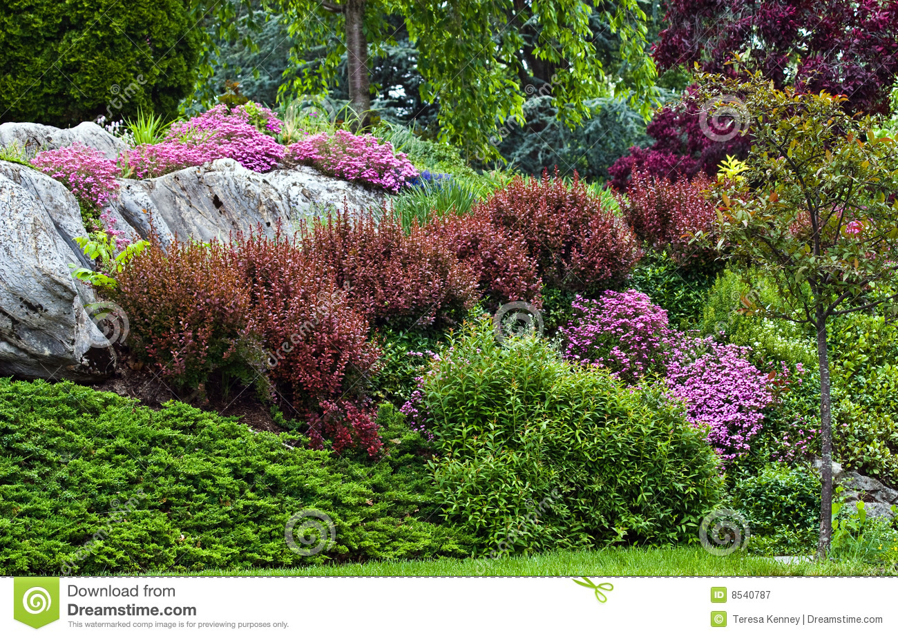 How to landscape a hillside -  Garden Design With Hillside Landscaping Royalty Free Stock Photography Image With Landscapping From Dreamstime