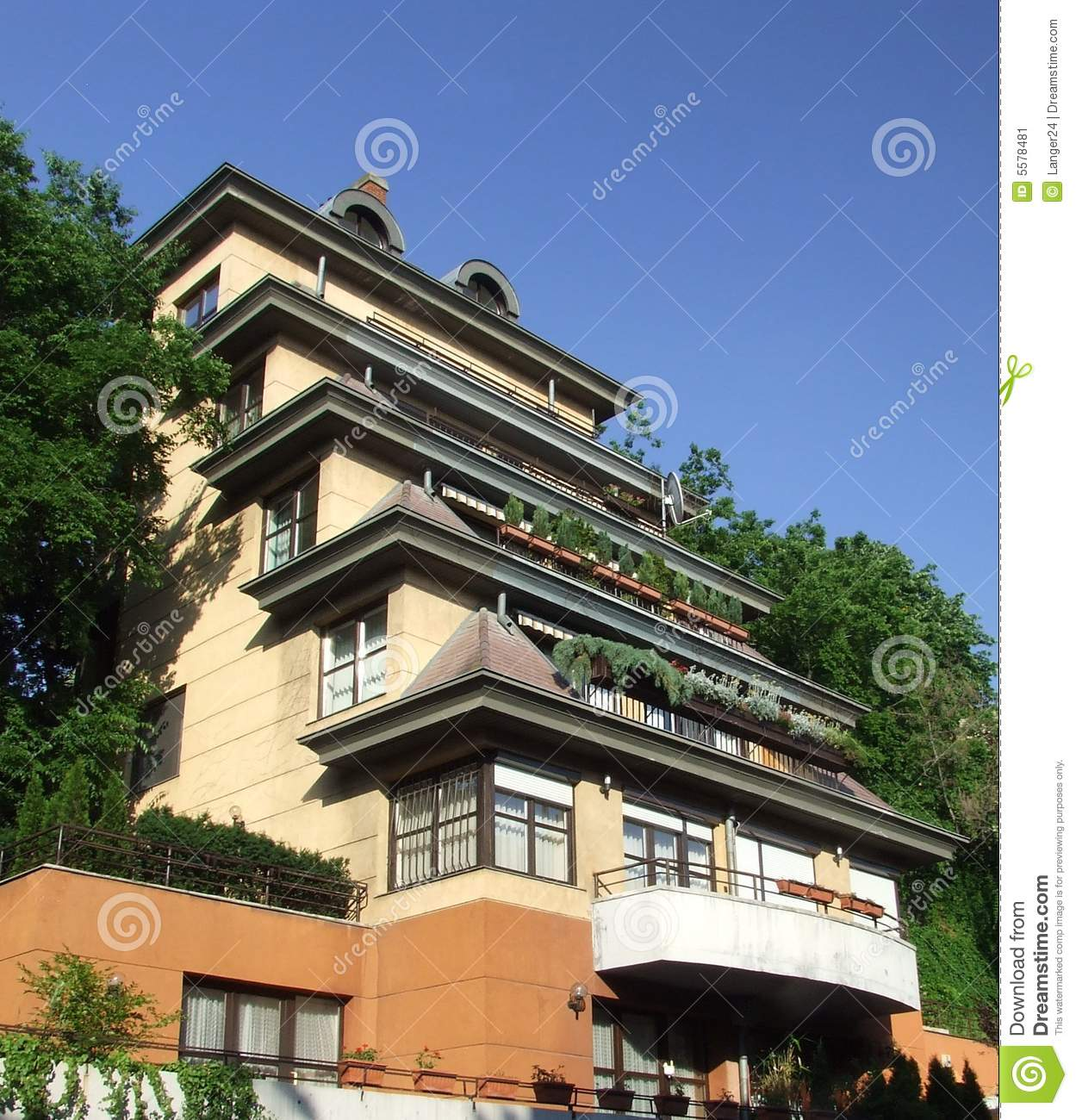 Hillside terraced architecture stock image image 5578481 for Cost of building on a steep slope