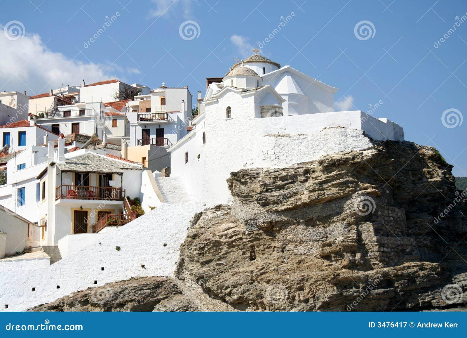 Hilltop church in Skopelos