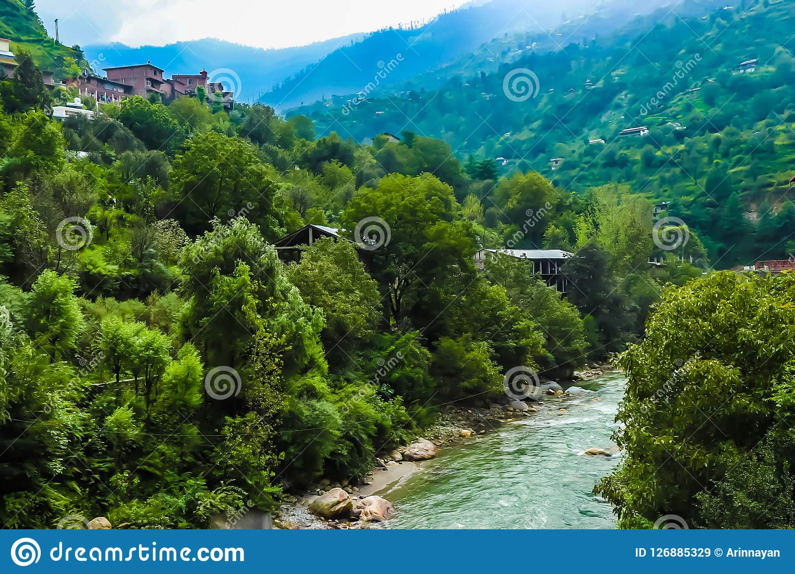 Hilly river