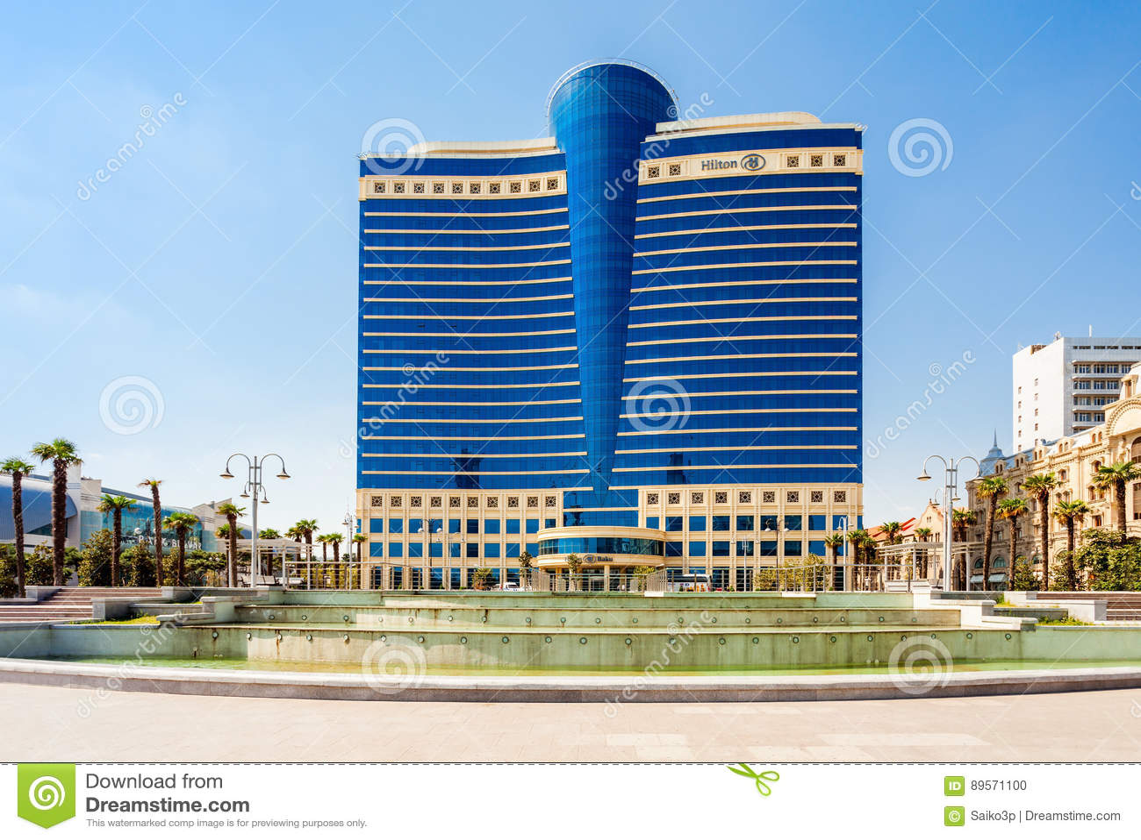 Hilton Baku Hotel, Azerbaijan Editorial Image - Image of