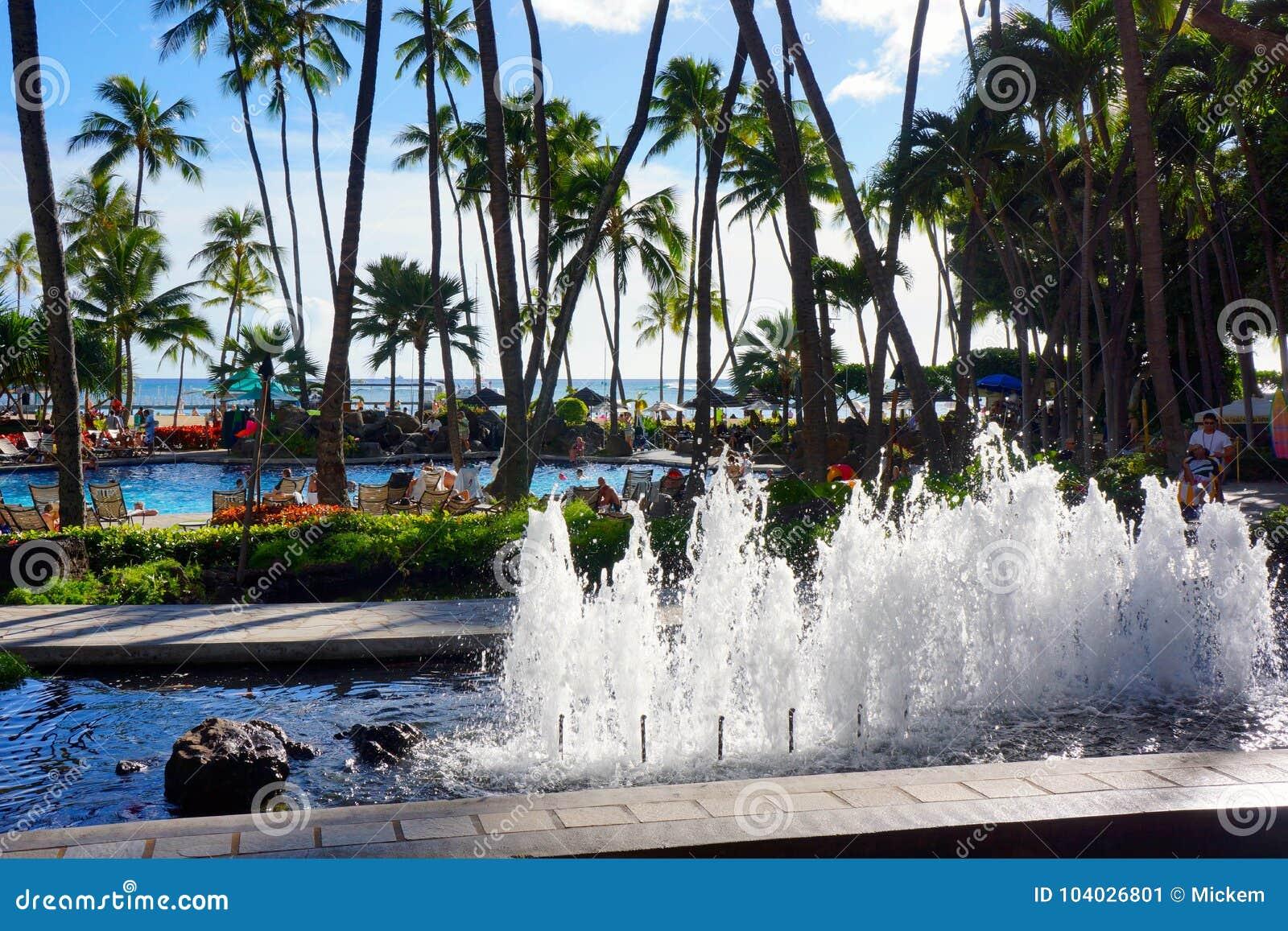 Hilton Hawaiian Village Waikiki Beach Resort Editorial Photo