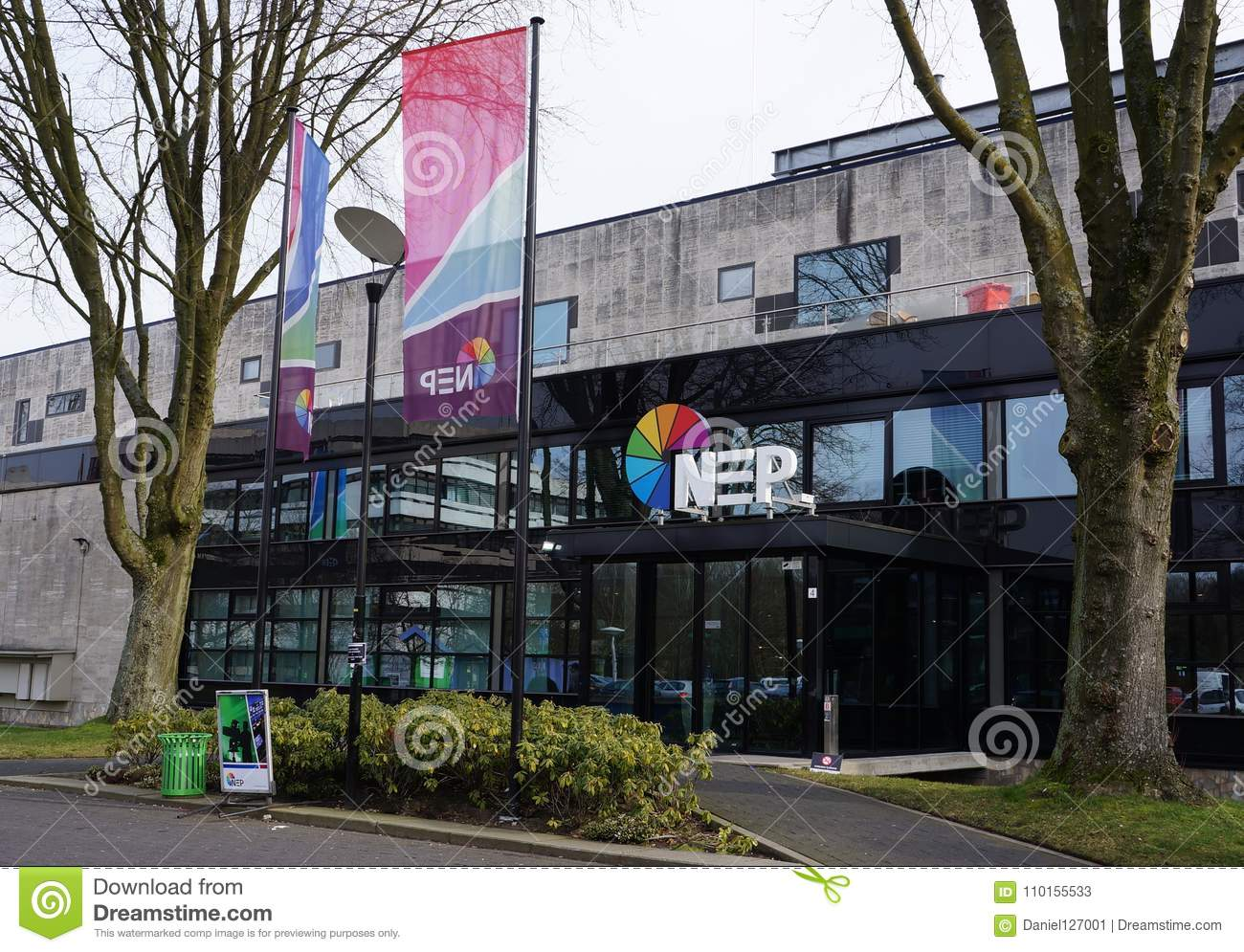 NEP Building In Hilversum, The Netherlands Editorial Stock Photo