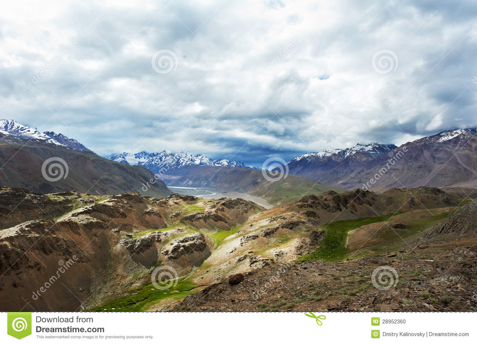 Himalaje góry w indu spiti dolinie