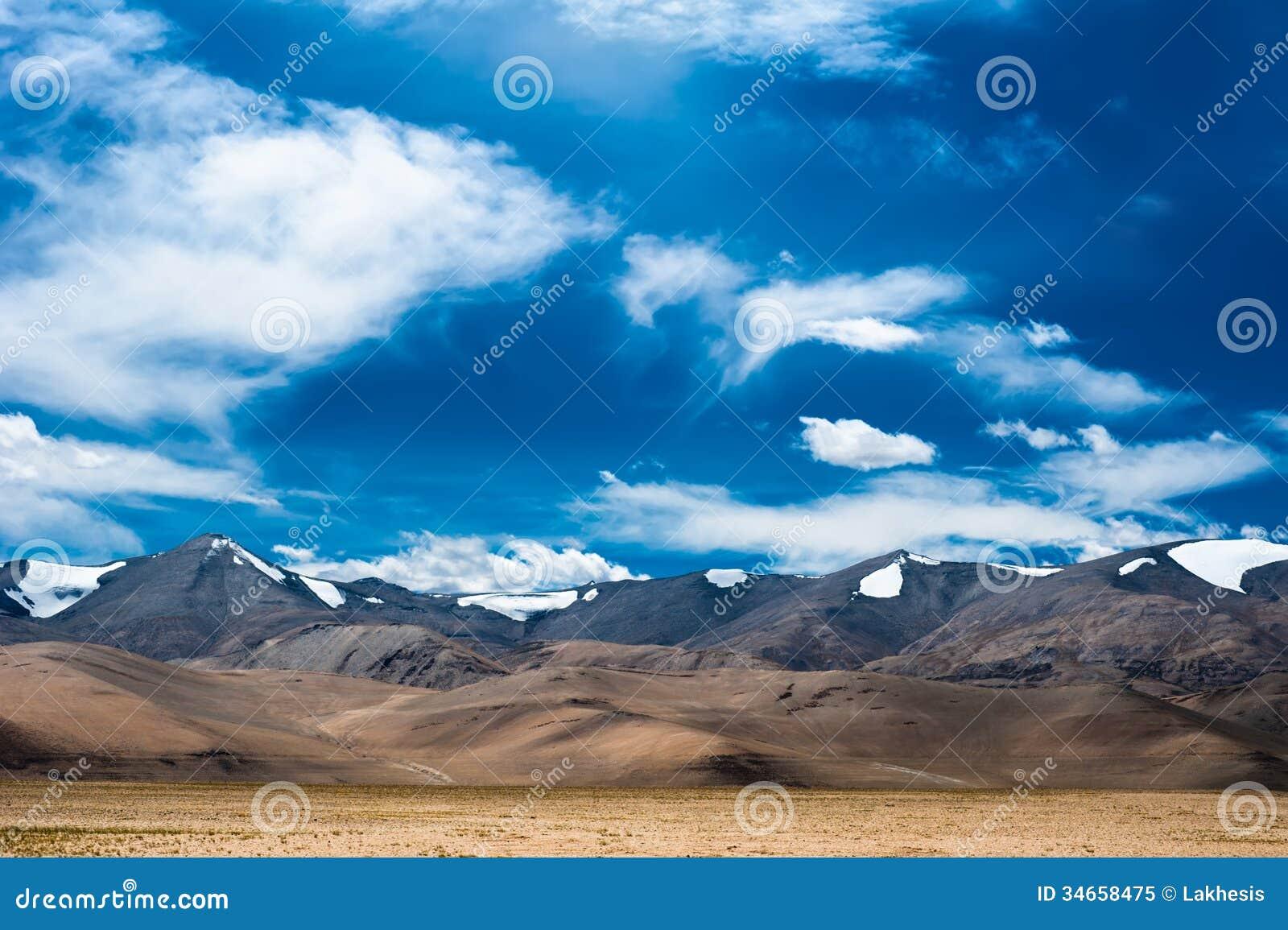 Himalaya High Mountain Landscape Panorama. India Royalty ...