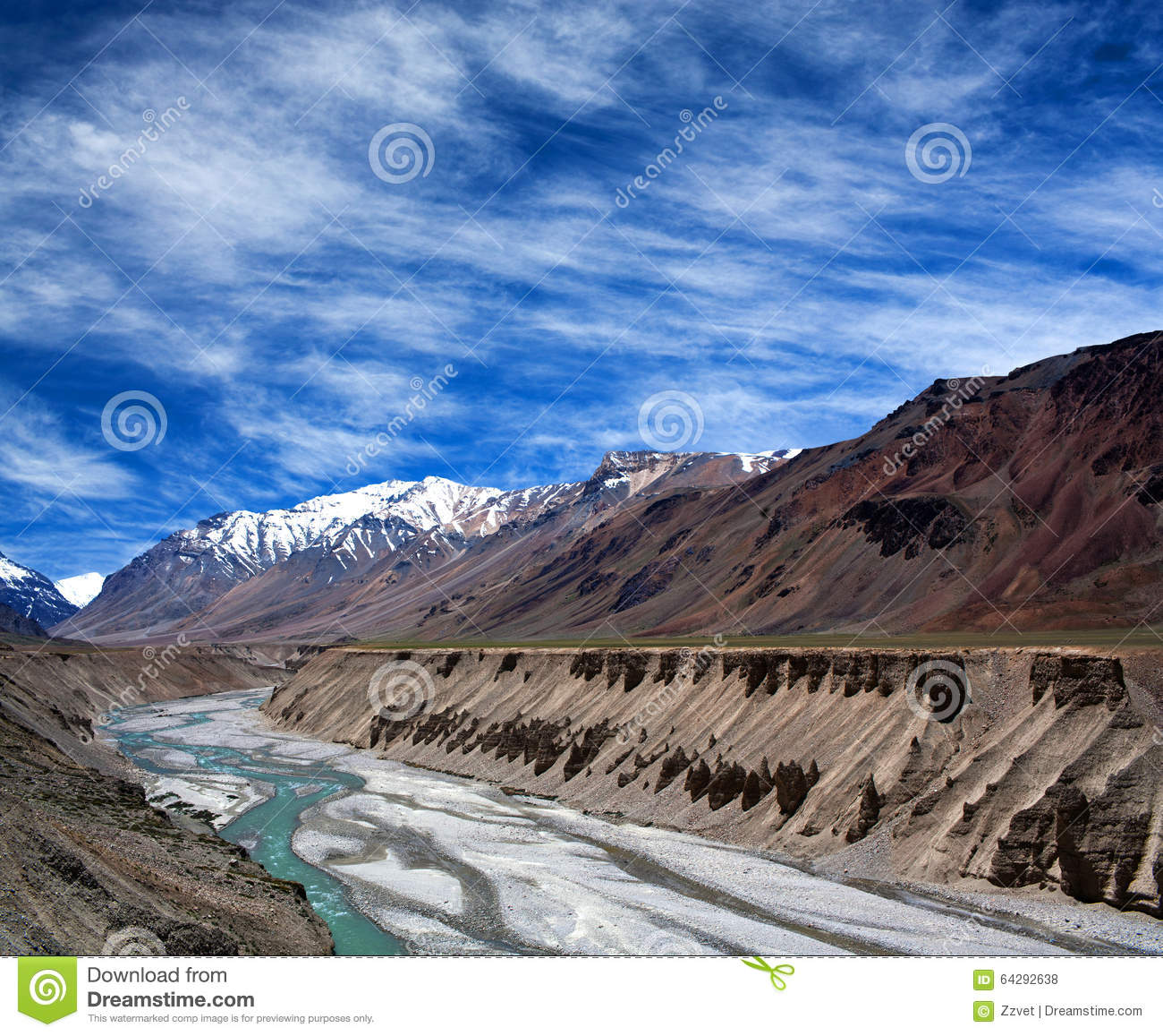 Himalayan Mountain Landscape In Ladakh India Royalty Free