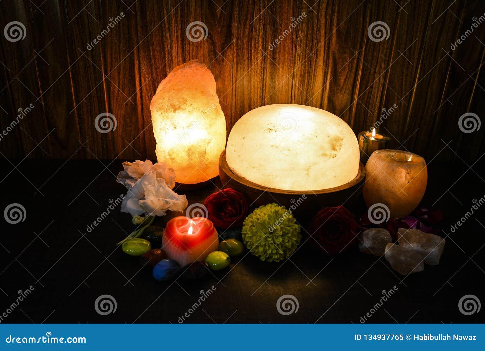 Himalayan Salt Lamps Natural Candle Holder Foot Detoxer