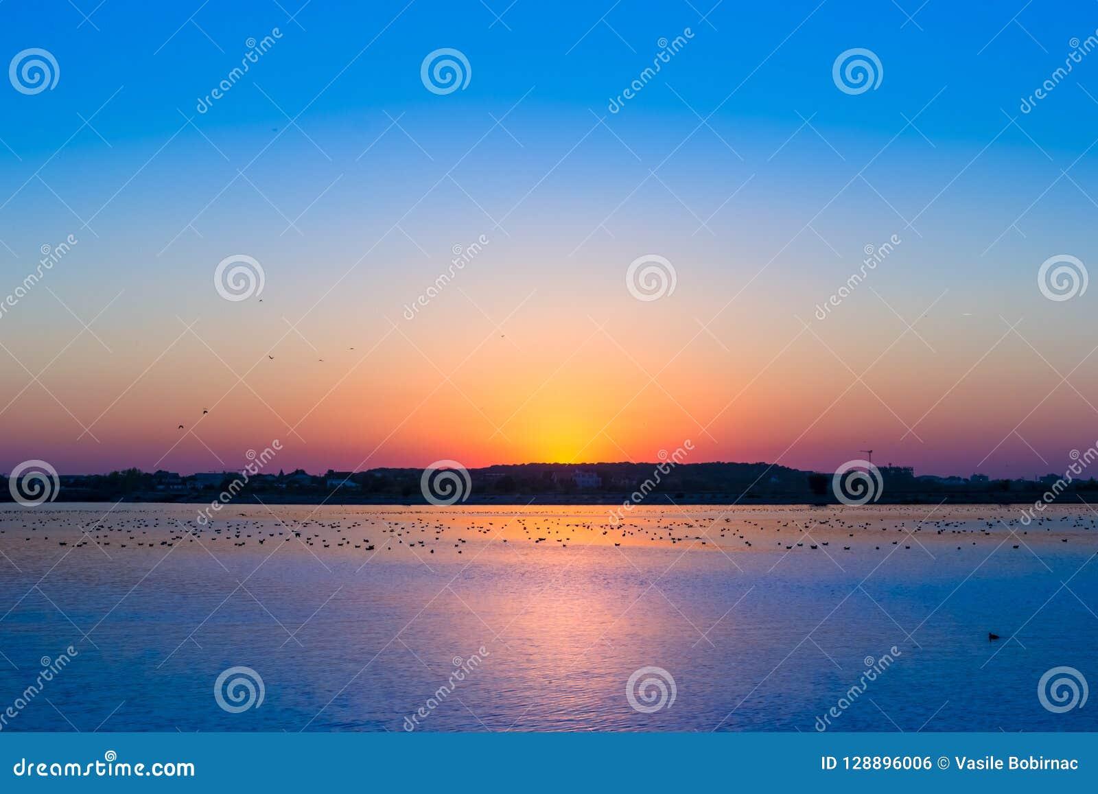 Himmel nach der goldenen Stunde