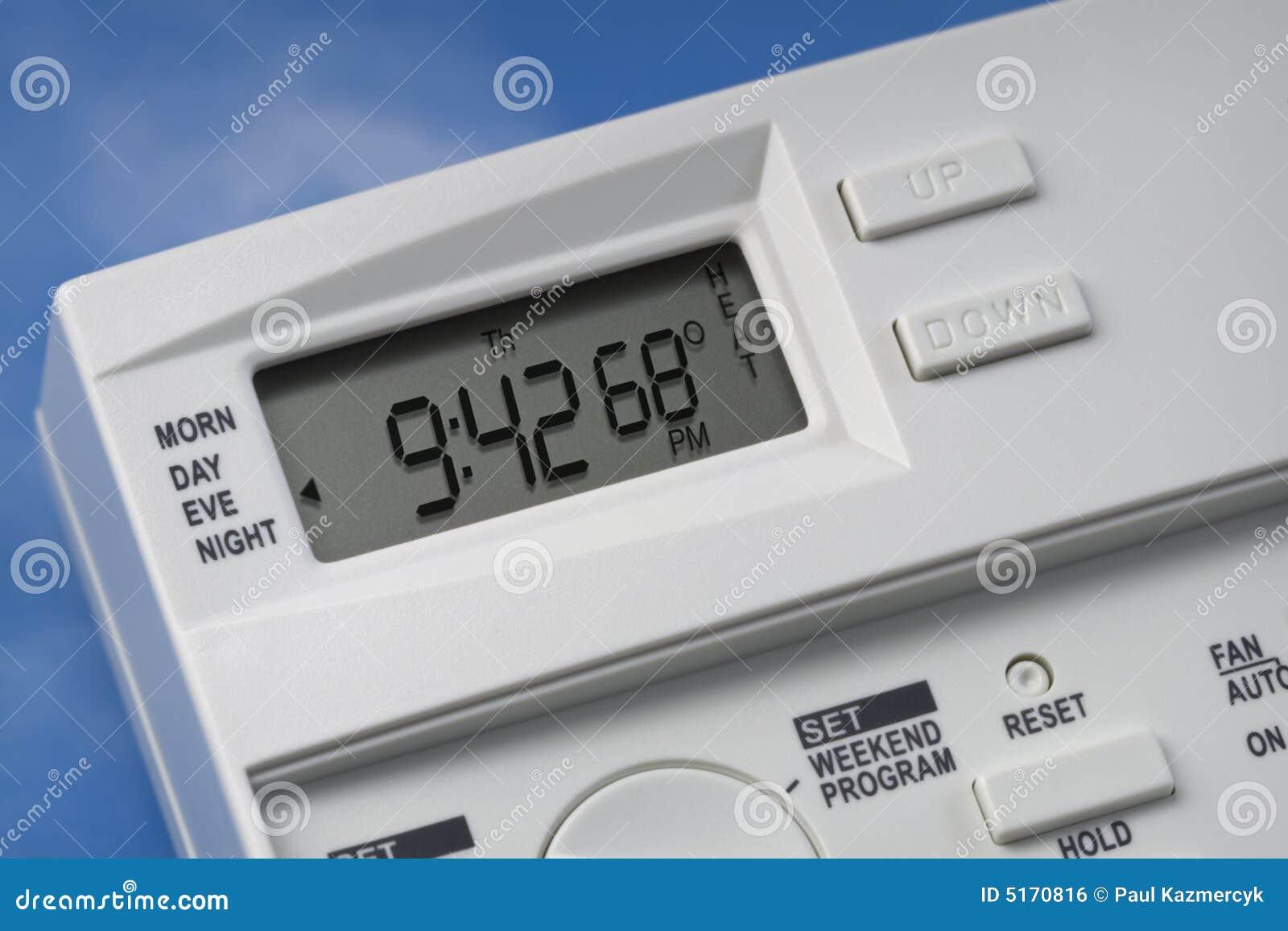 Himmel-Thermostat 68 Grad Hitze-