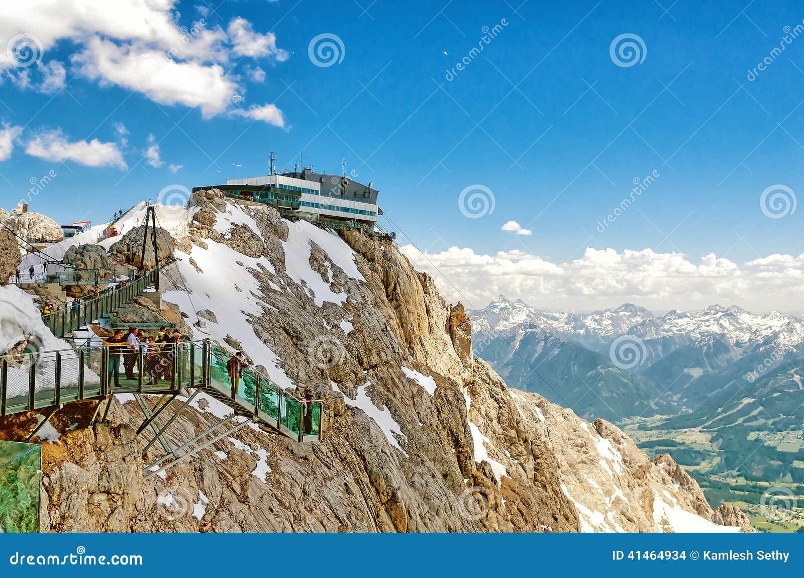 Himmel Weg In Dachstein Gletscher Stockfoto Bild Von Blau