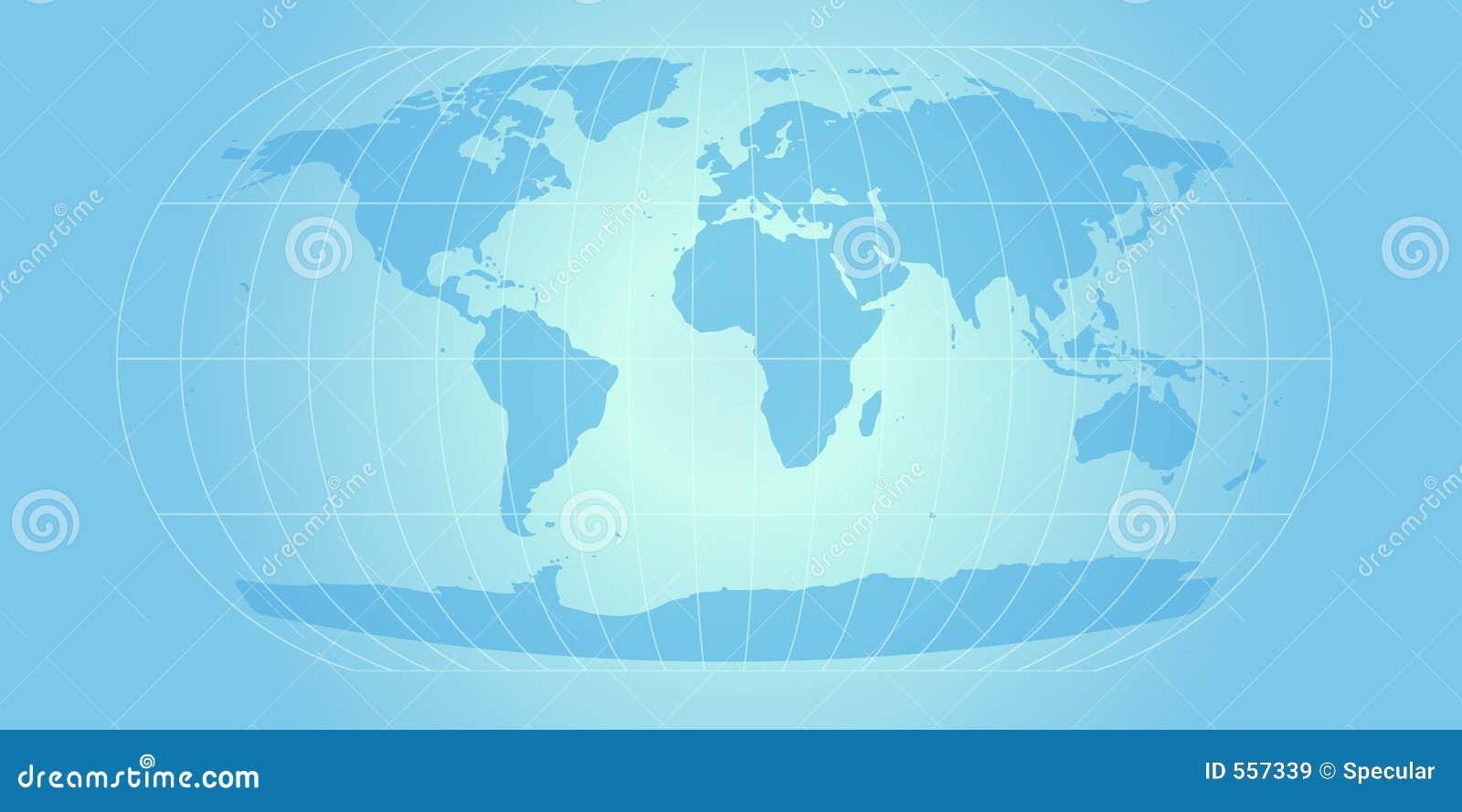 Himmelblau-Weltkarte