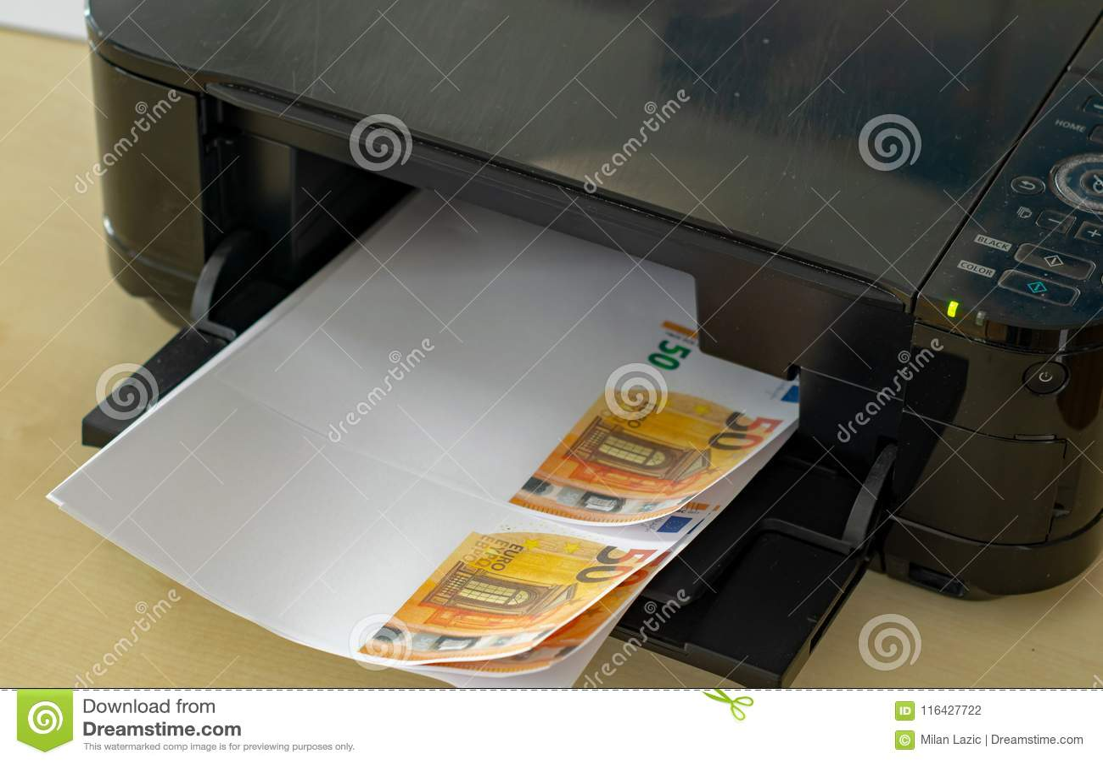 Himself Printing His Counterfeit Money Stock Photo - Image