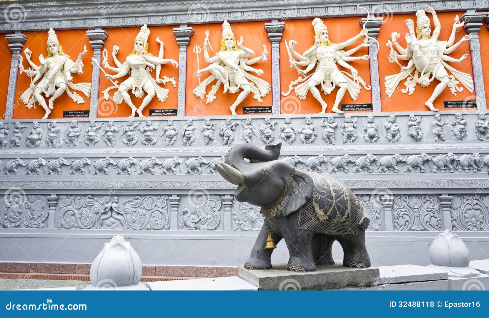 Hindi Gods und Elefant