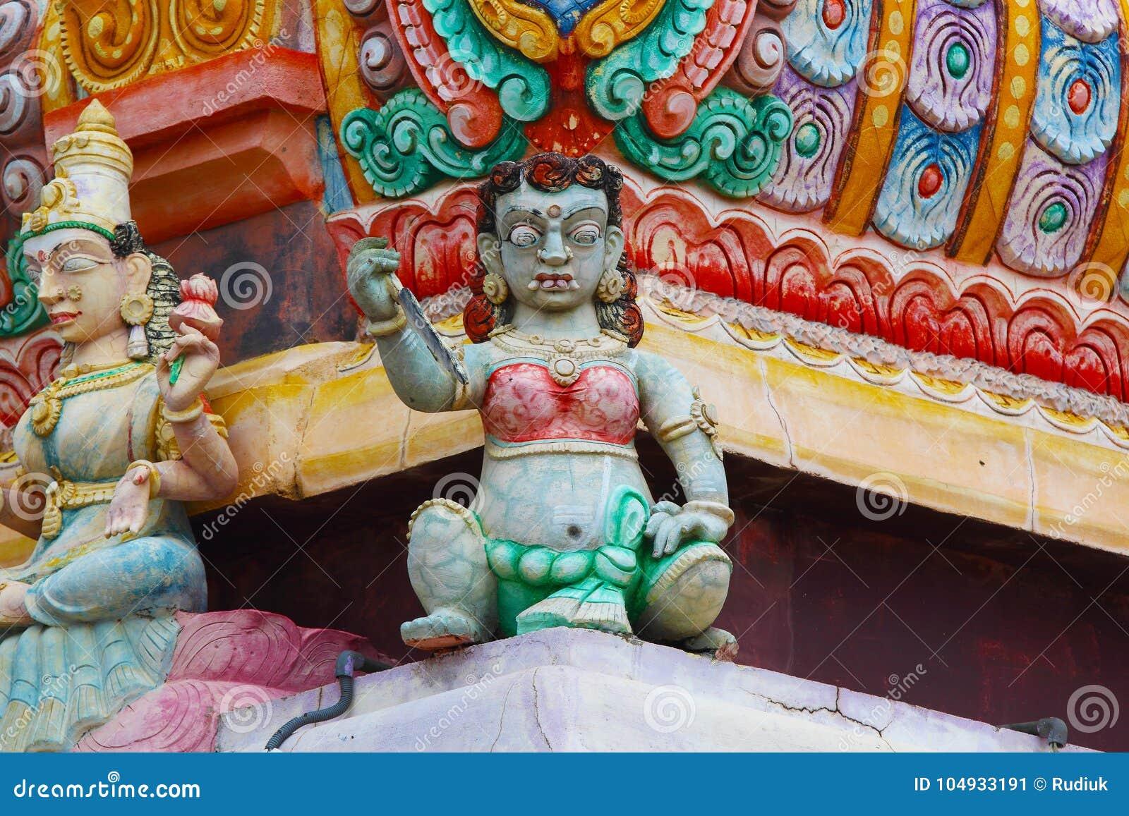 Hindoese standbeelden in Sri Lanka