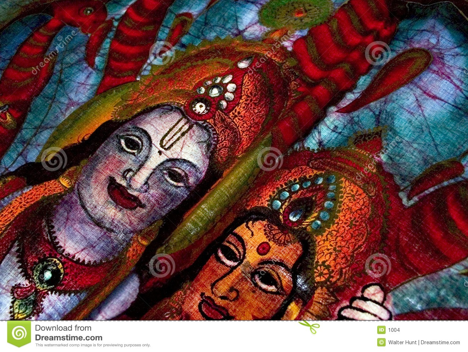 Hindu batik detail