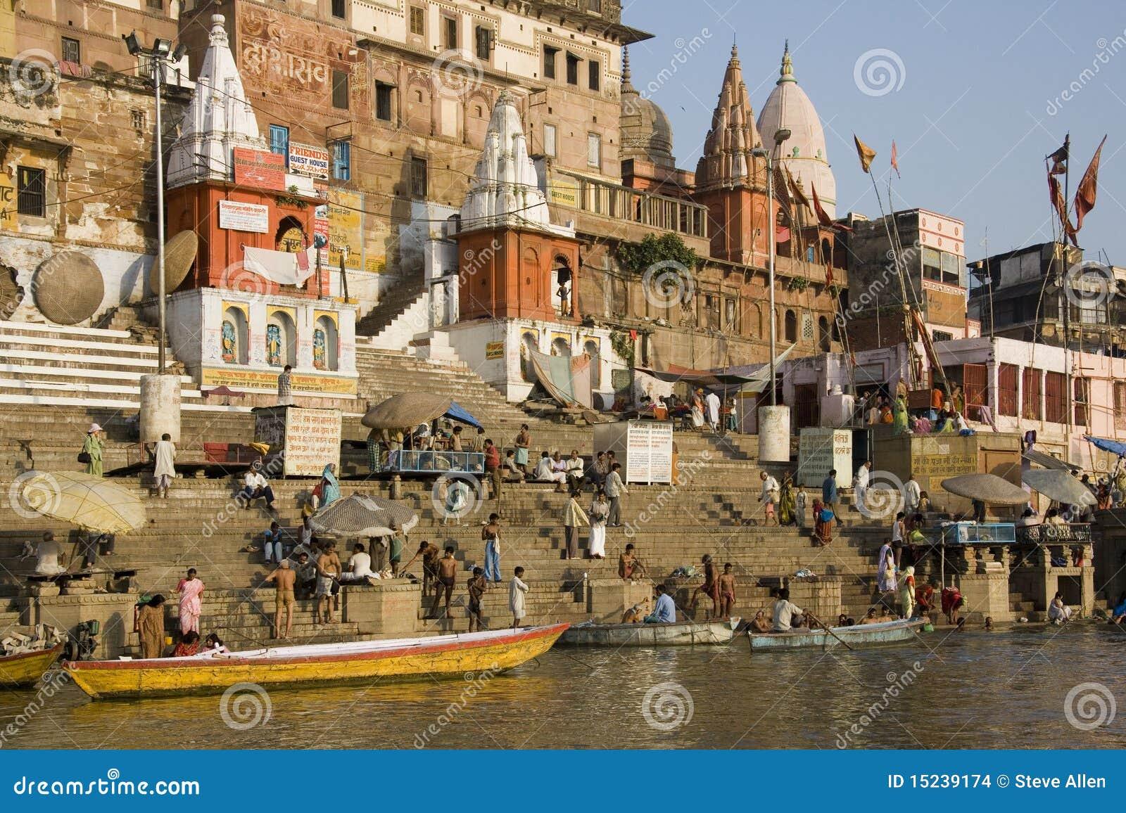 Hindu Ghats - Varanasi in India